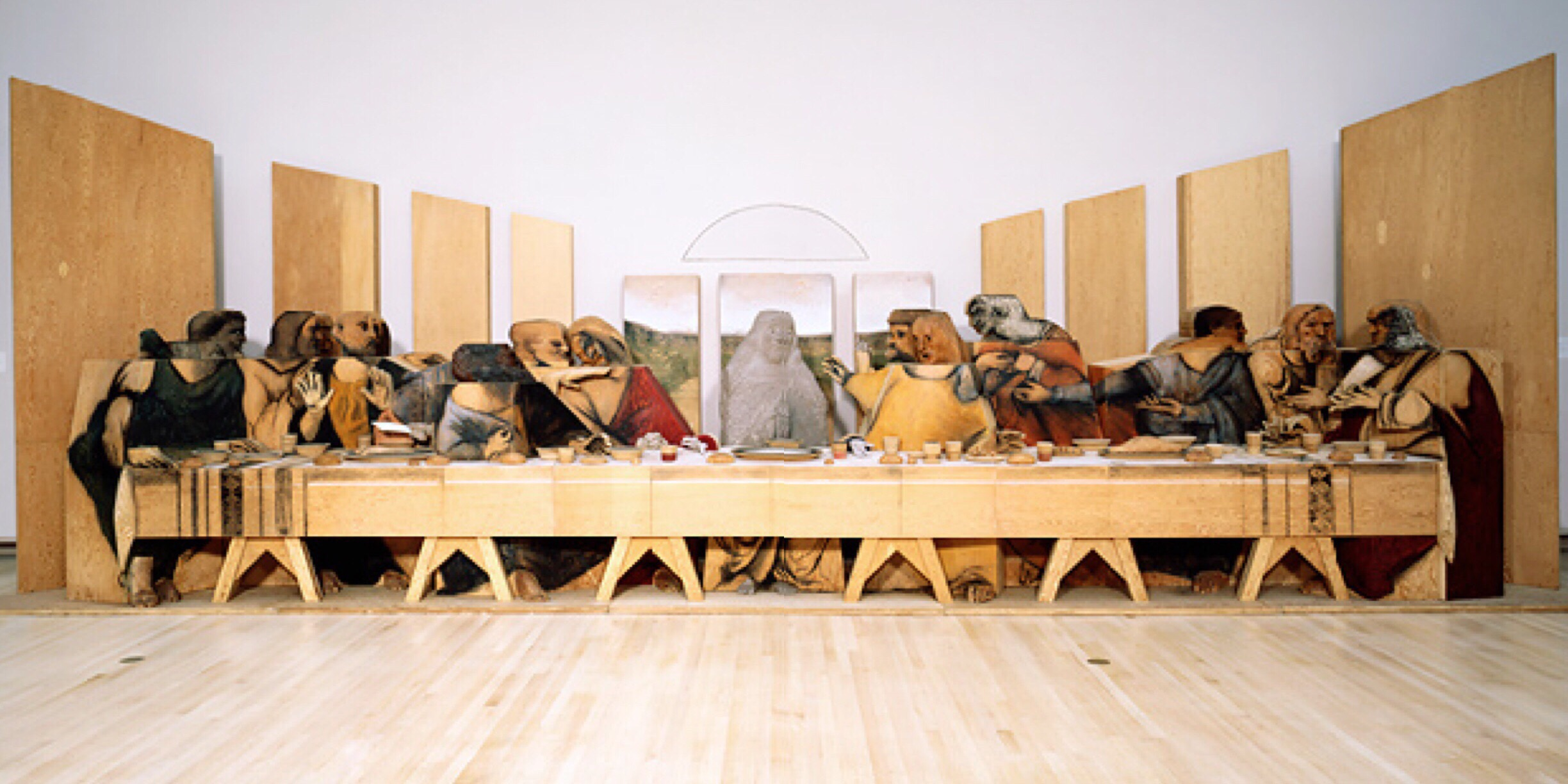 Marisol's Self Portrait Looking at the Last Supper, 1982-84