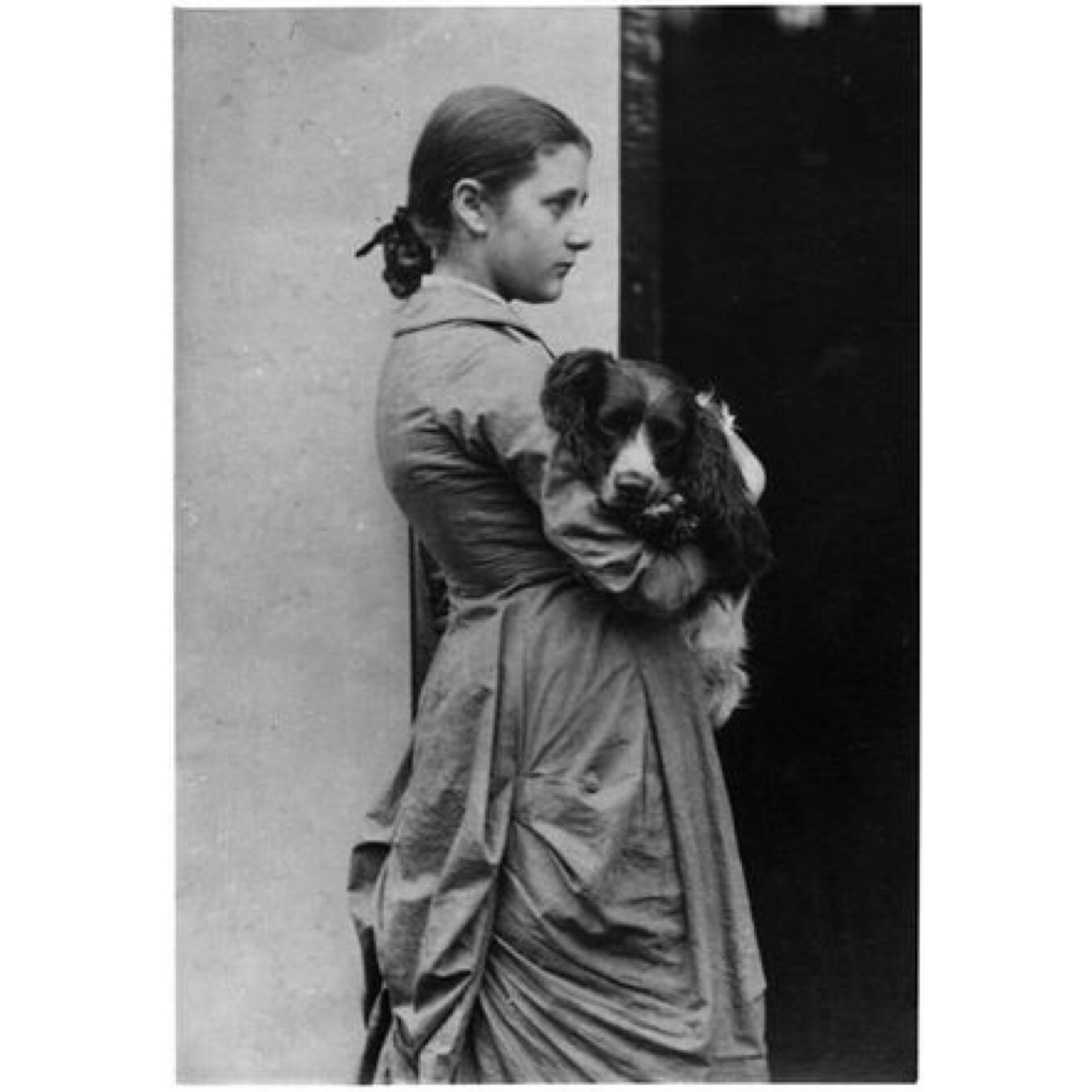 Beatrix at age 15 with Spot;