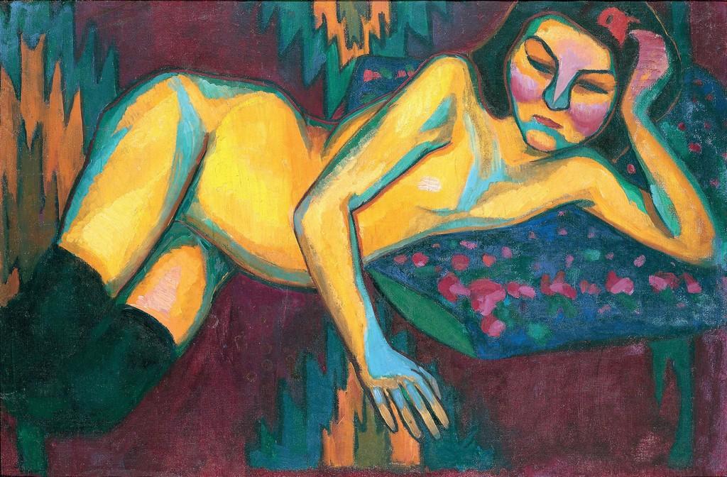 Yellow Nude, 1908