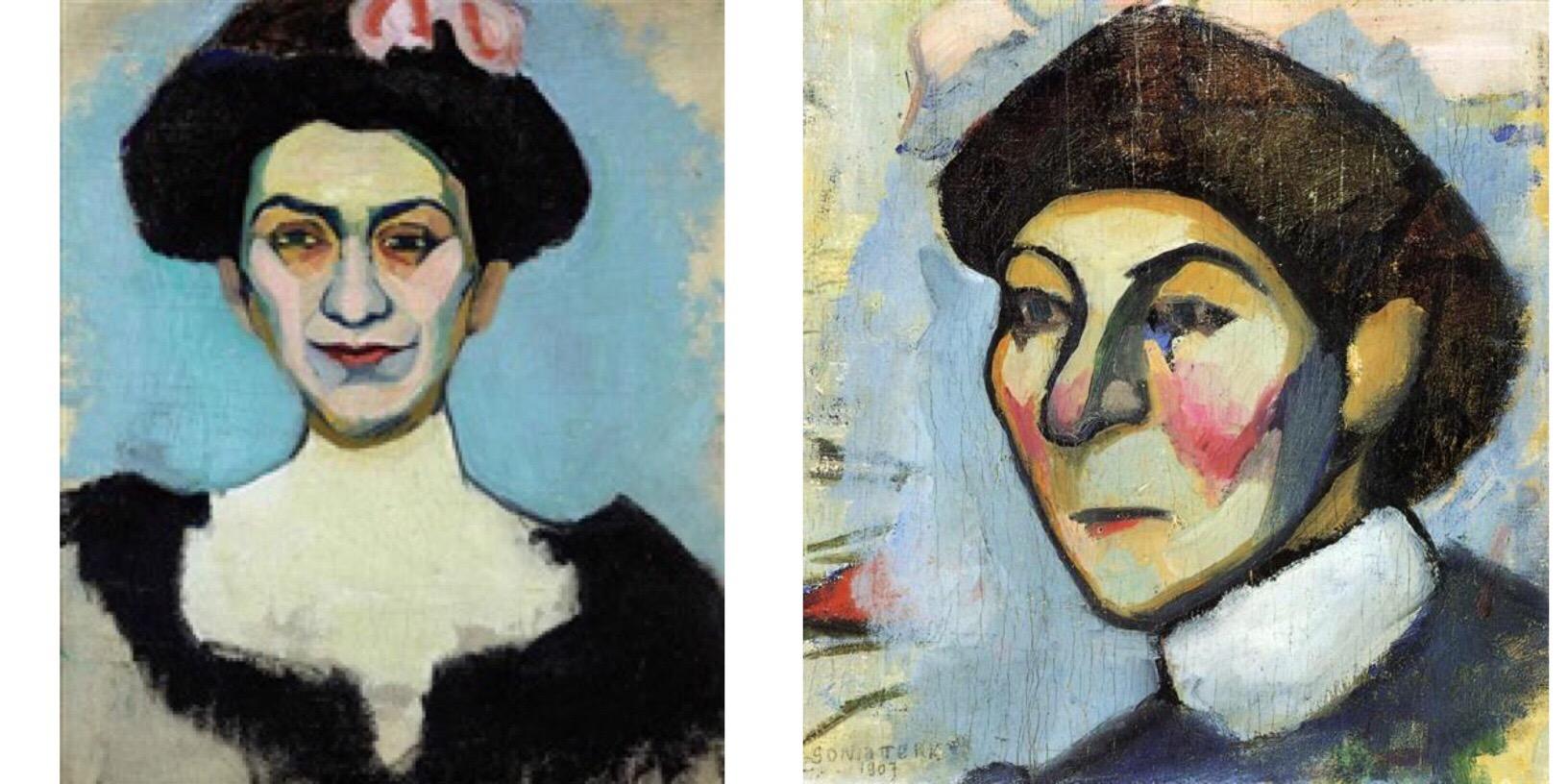 Portrait de Madame Minsky, 1907 and Portrait de M. Dufresne, 1907