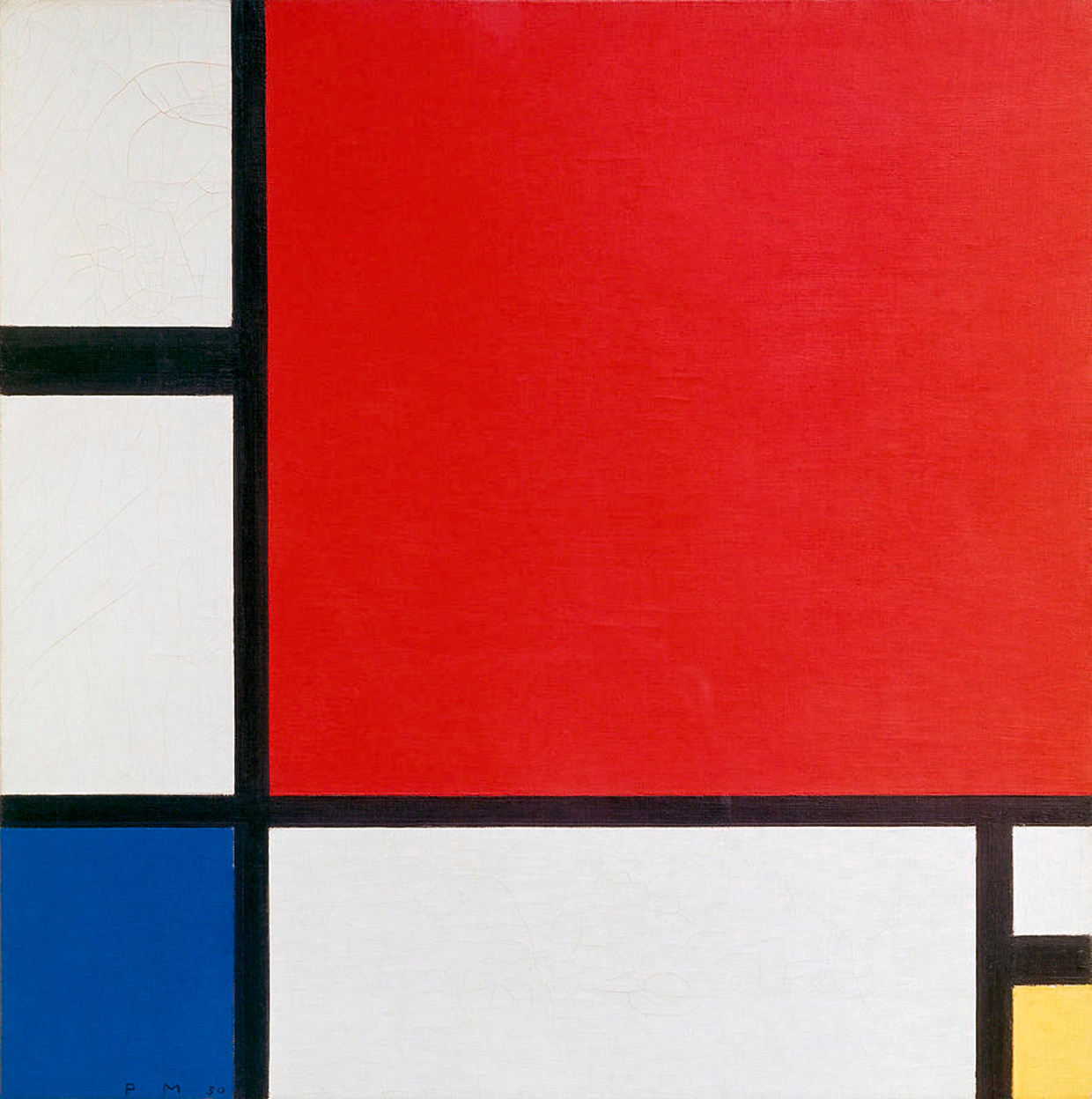 Composition with Red Blue and Yellow, 1929