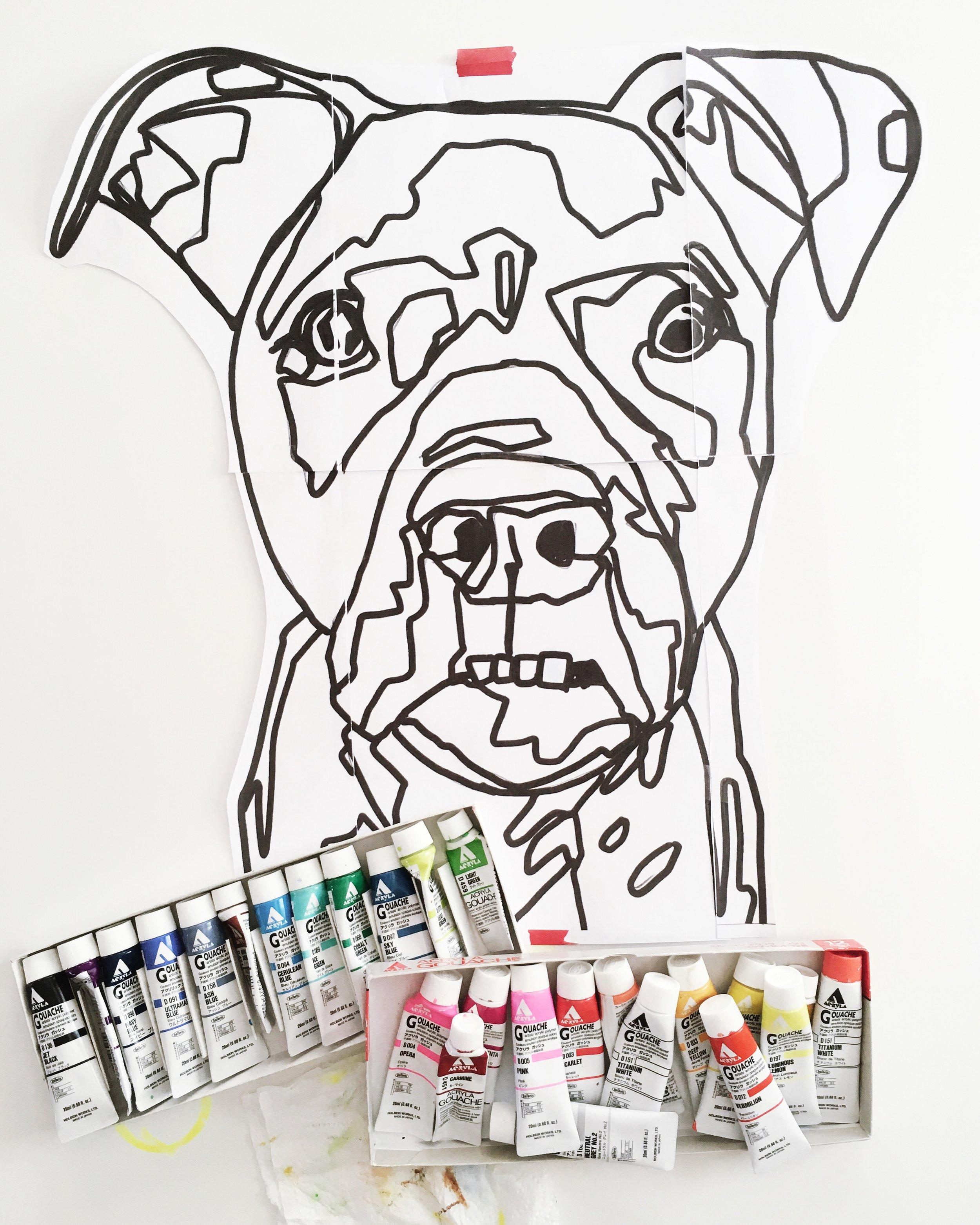 crystal moody | dog portrait in progress