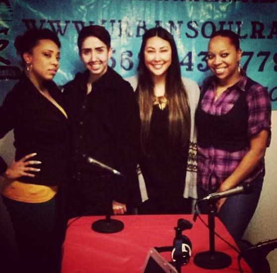 Left to Right: Mz Snacks, Phantom, Nicole the filmmaker, and Lady Incredible