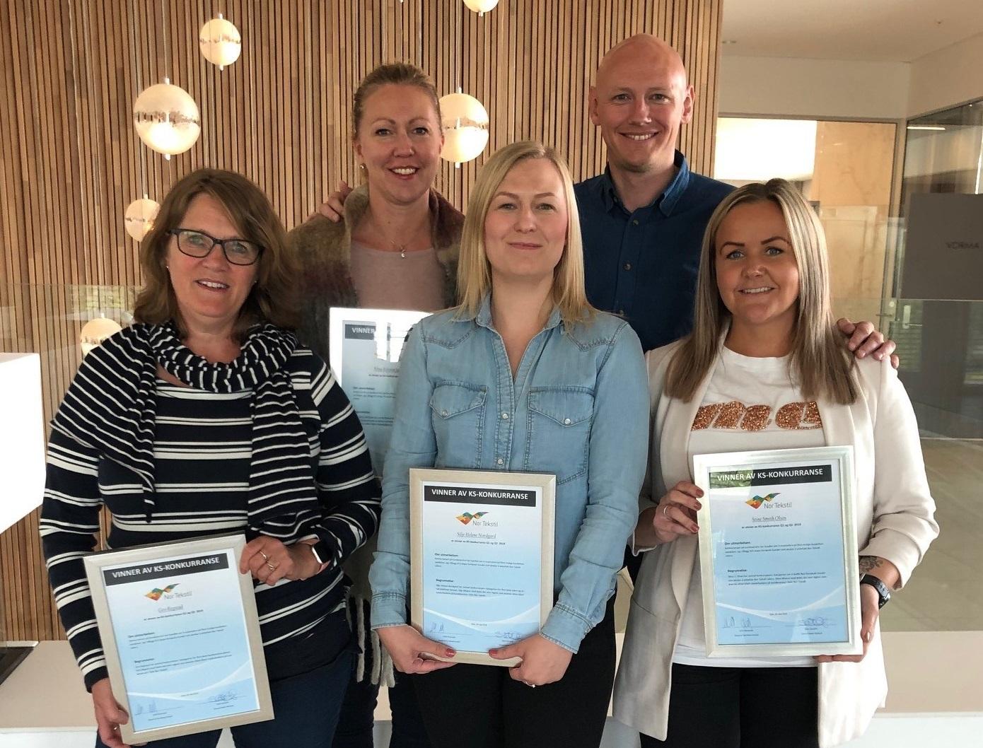 Oppe fra venstre: Nina Kristin Jakobsen, Arild Ommedal. Nede fra venstre: Gro Regstad, Silje Helene Nordgard, Stine Smith Olsen.
