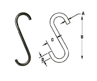 S Hook display riggrep bentbar riggrep