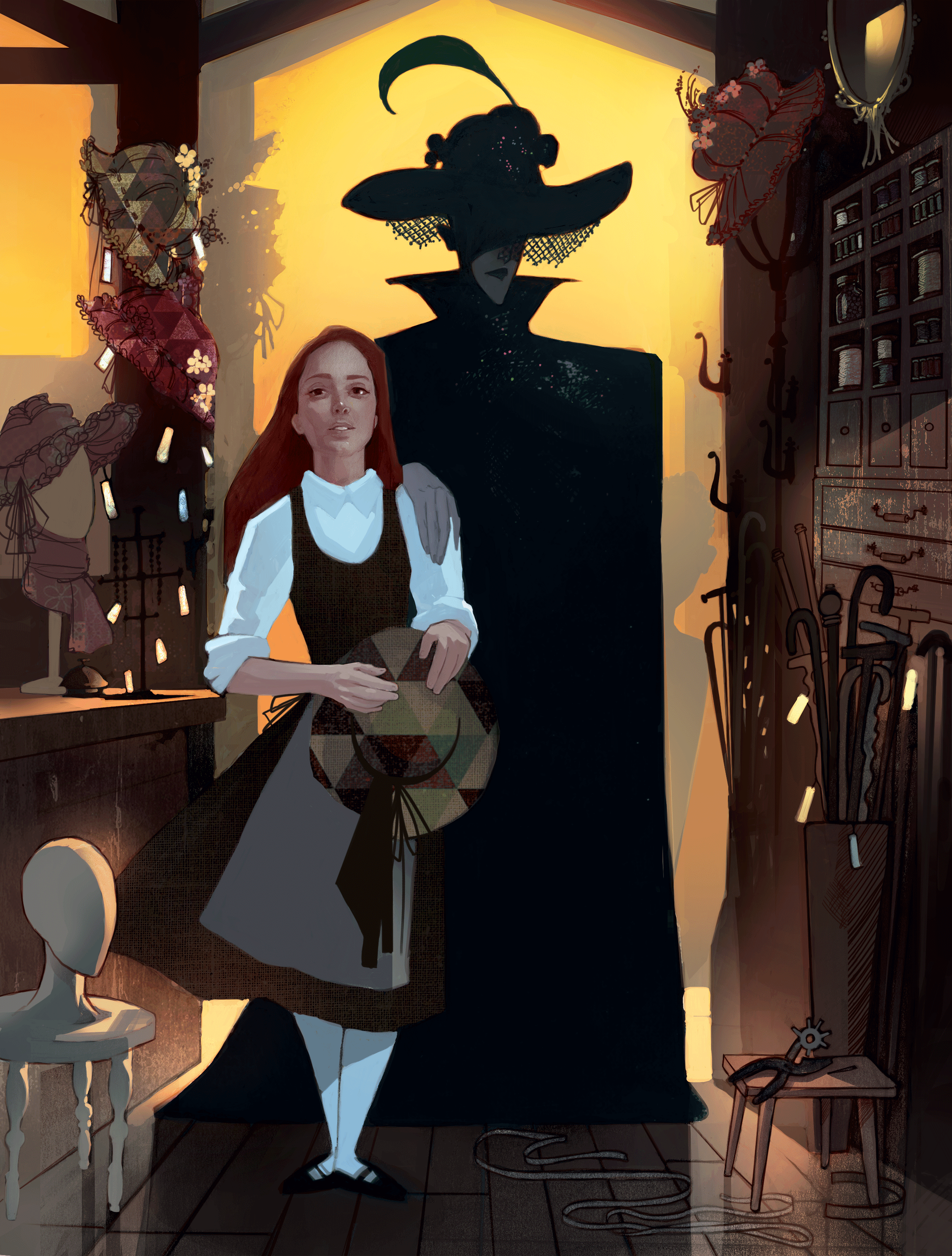 Sophie meets the Witch in the hat store