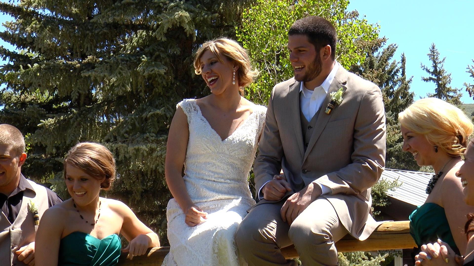 Screenshot from wedding video