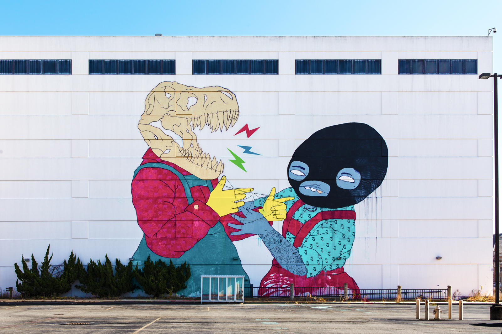 Photo of Jasper Wong and Kelly Towles collaboration mural from #ArtYardsDC Mural Project.