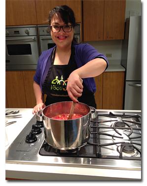 Patrilie Hernandez cooking up change