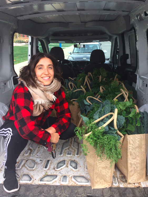 Dalila Boclin delivering produce all day long
