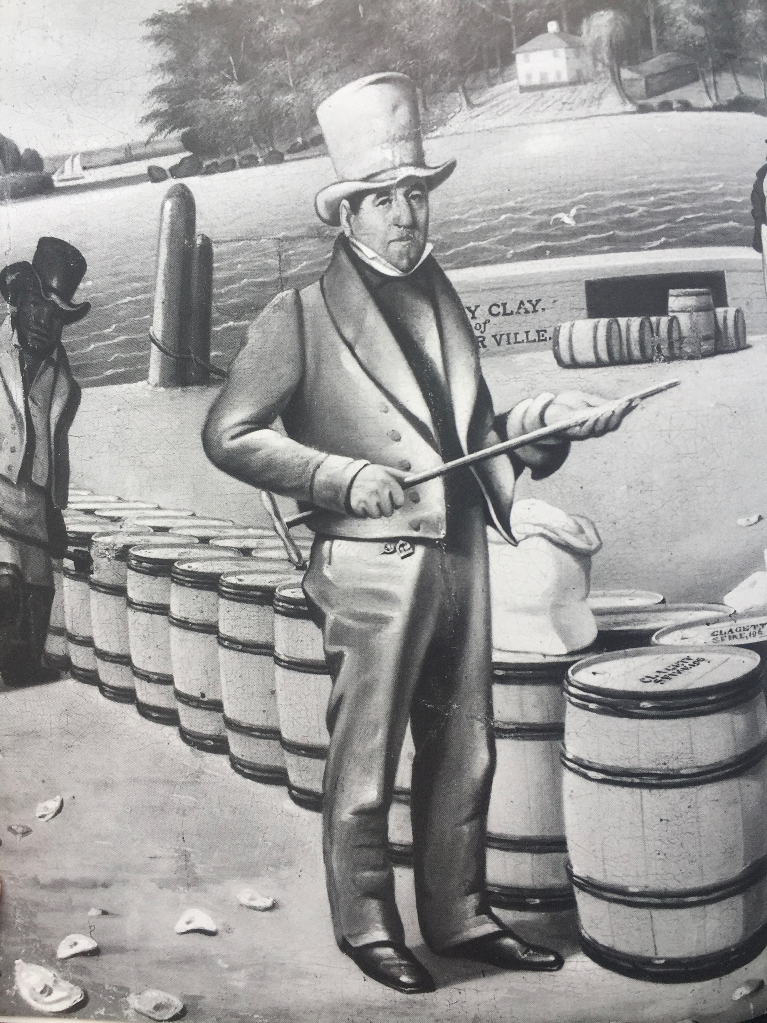 Two hundred years ago, Georgetown was renowned for the flour shipped from its port across the country. This illustration from Steve's book is of the Port of Georgetown's flour inspector, George Shoemaker.