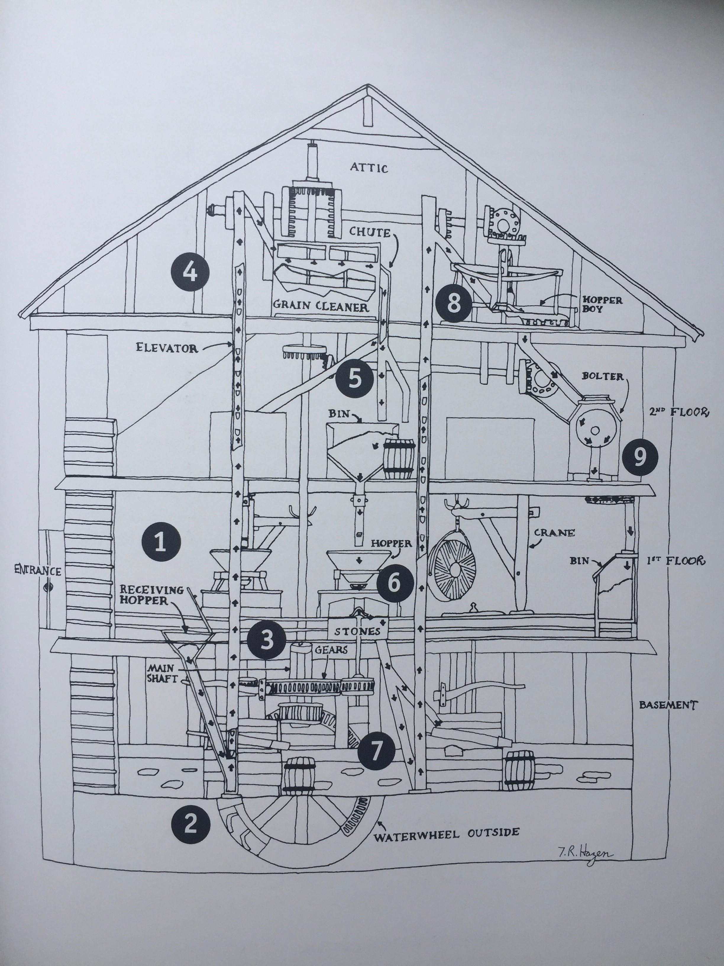 Map of Peirce Mill, from Steve's book