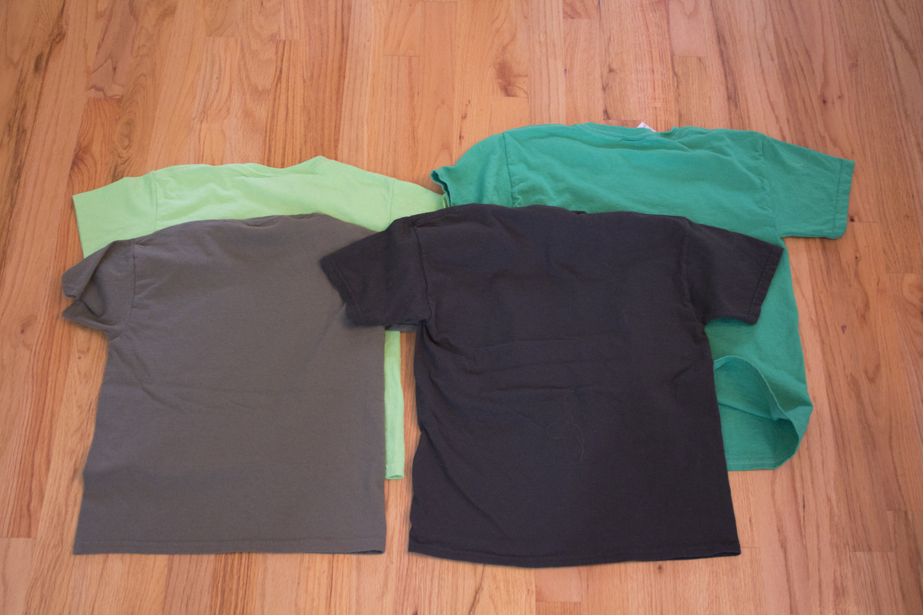 these are the original t-shirt colors without designs.