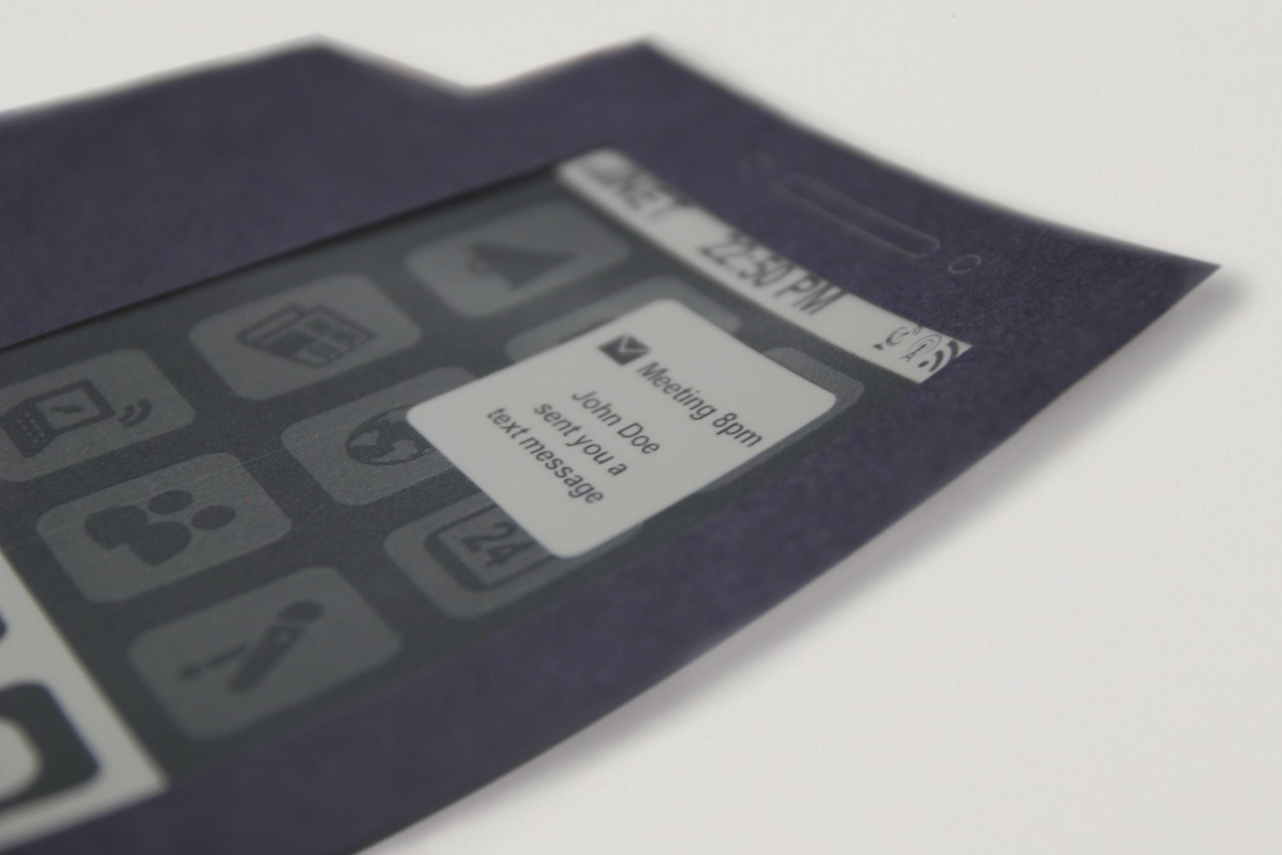 morephone (2013): message notification (close up)