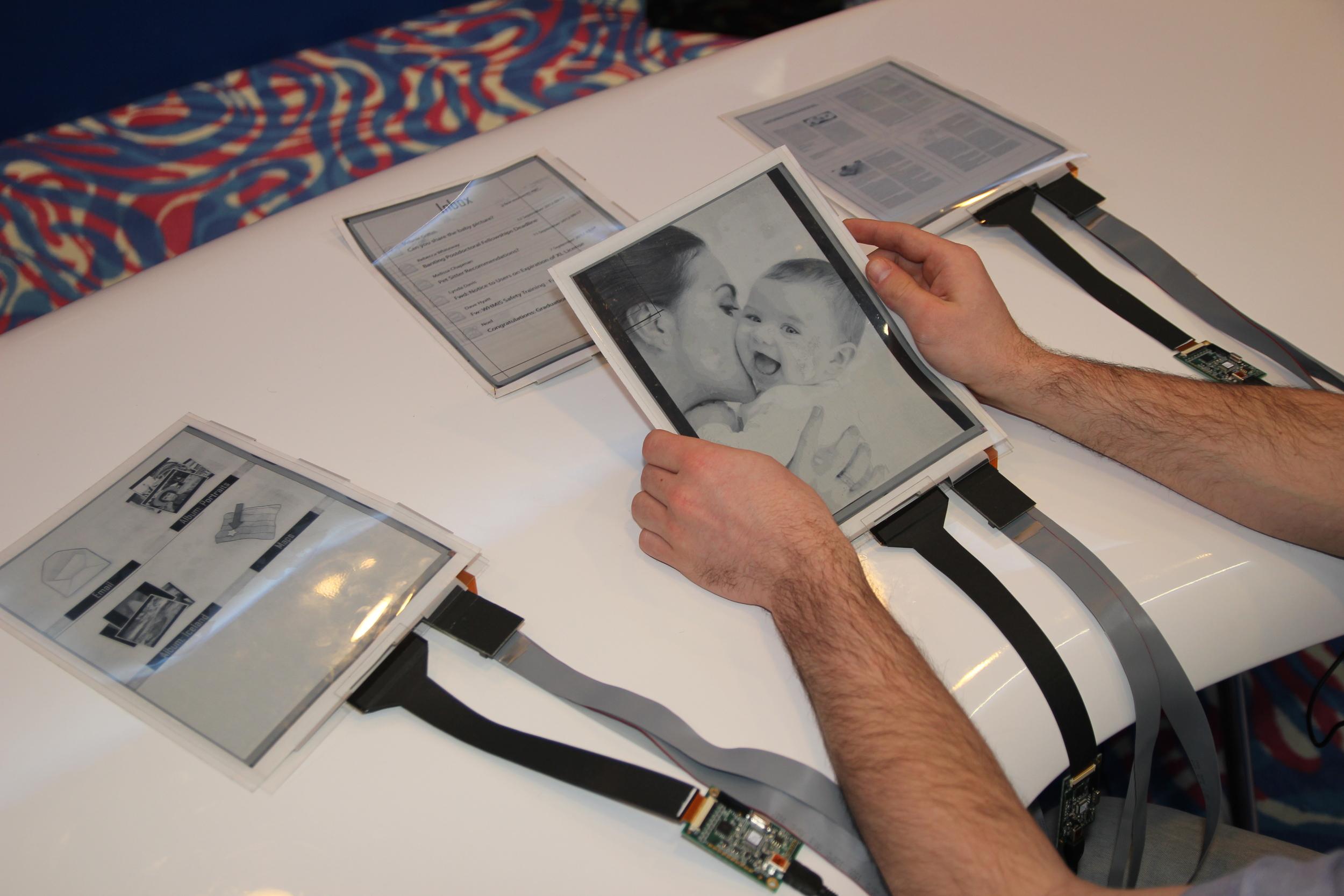 papertab (2012) first flexible tablet pcs