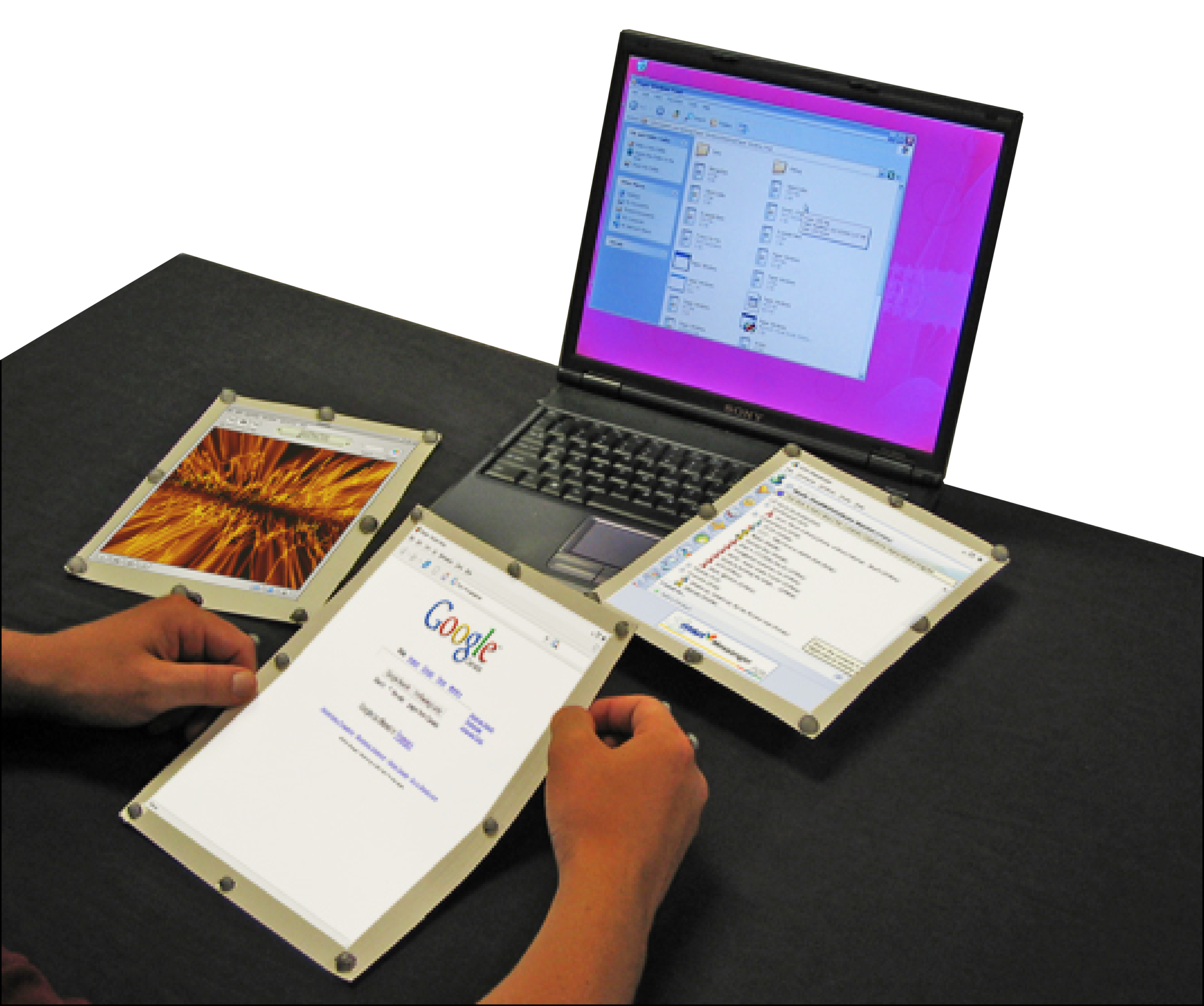 paperwindows (2005) first wireless, flexible paper computer