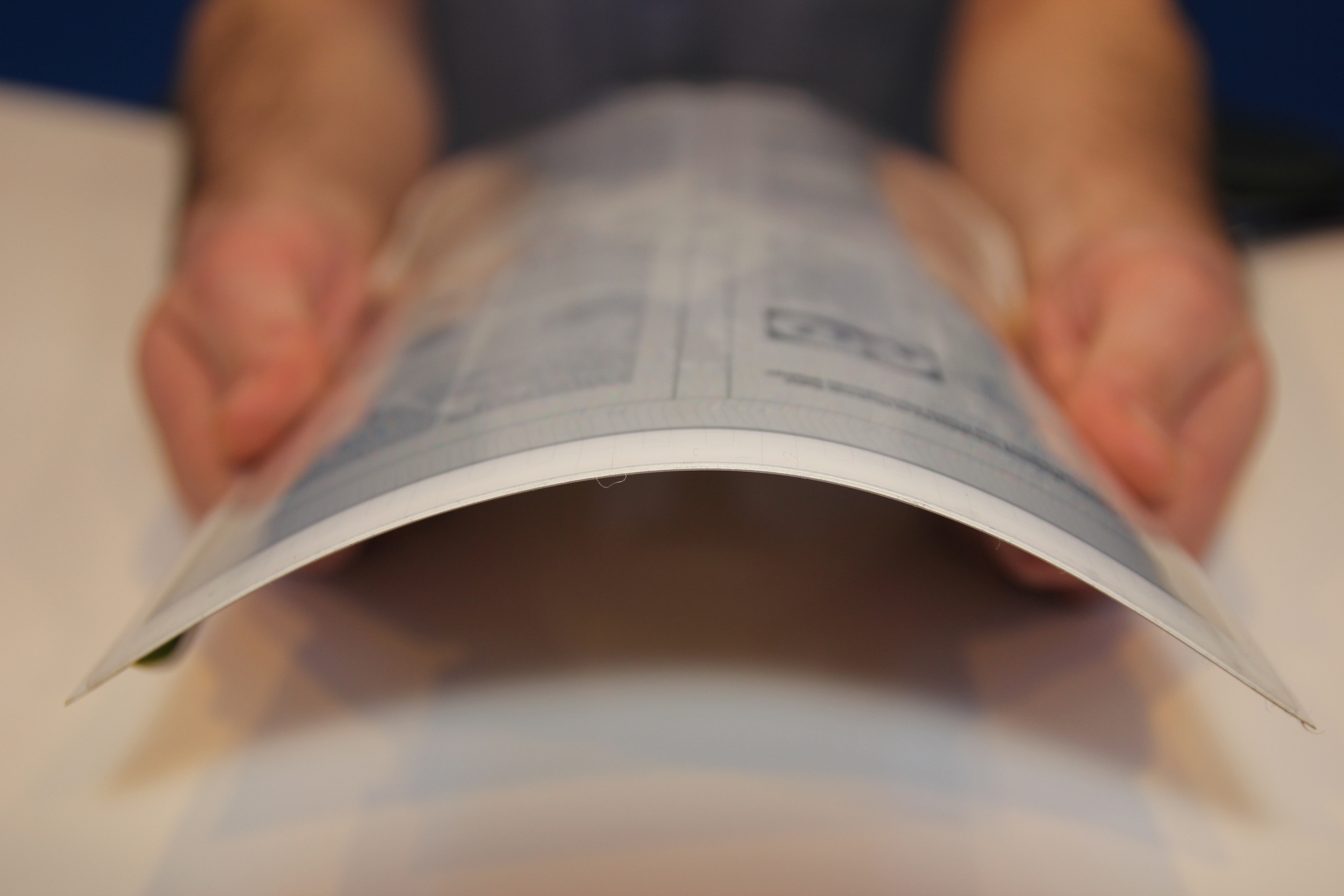 papertab (2012): bend gesture to open or zoom in