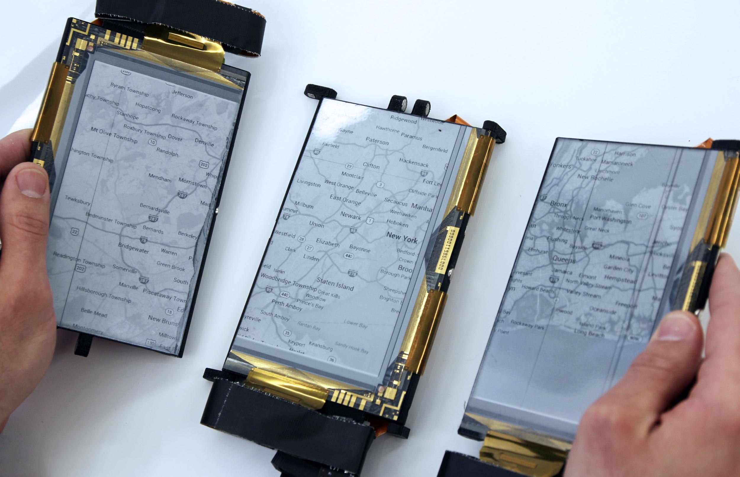 paperfold (2014): detachable screen configurations allow multitude of form factors