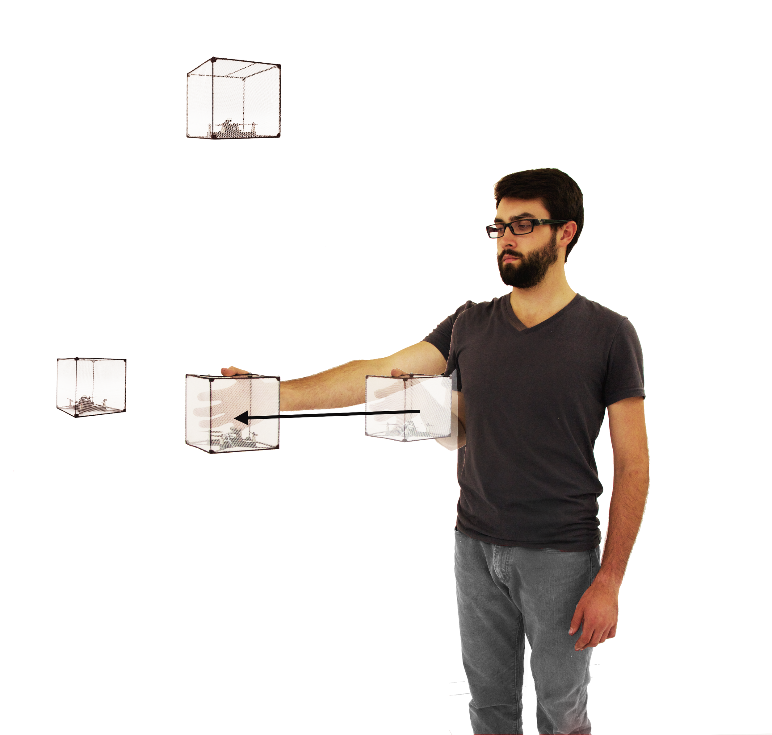 BitDrones (2015): Placing a ShapeDrone in mid-air.