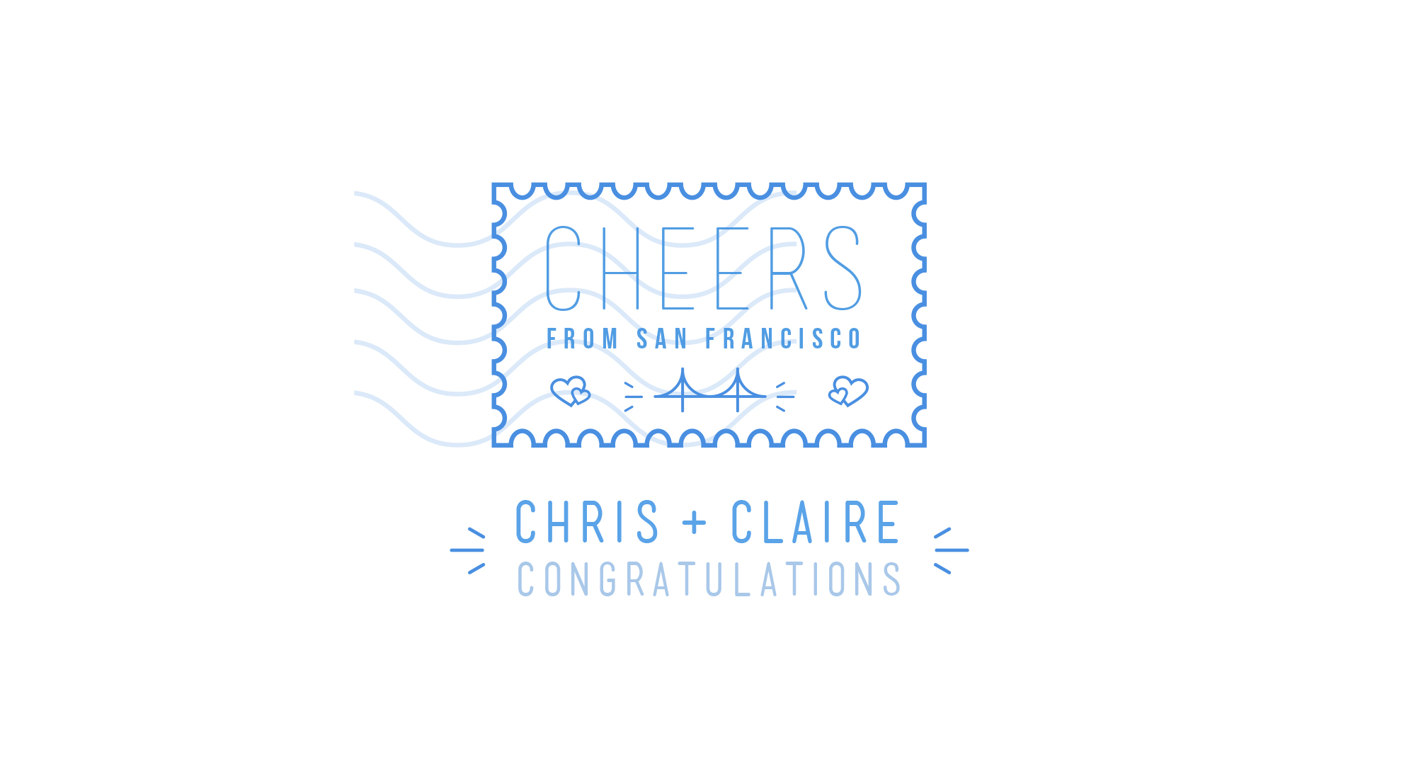"Chris + Claire Tauziet ""Best Wishes"" Stamp"