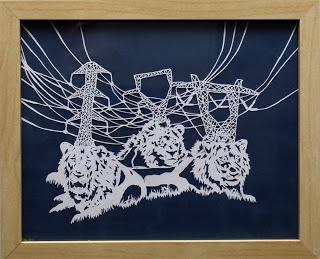 """Alta Buden  Power Lions , 8.5"""" x11"""", cut paper"""