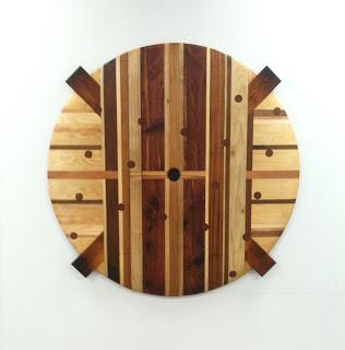 """Shield"" salvaged wood, 43x43"", 2012"