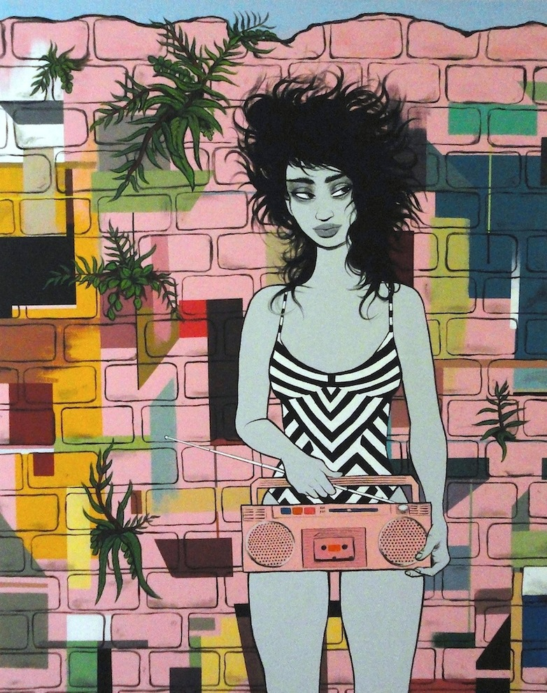 Miami #1 , 2012, 48x60, Acrylic on canvas