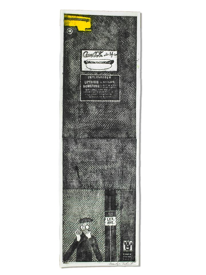 Etching by Mitsushige Nishiwaki, 59 Lex Ave, 34'' x 10.5''
