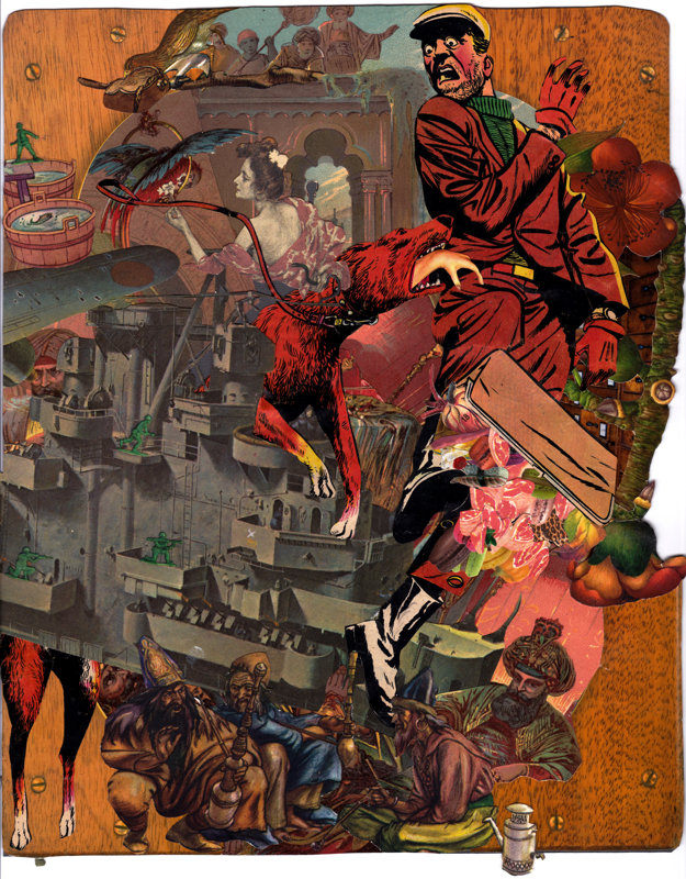 Al-soqi_Uldoz, 2015, hand cut collage assembled on paper, 10 x 8 in.jpg