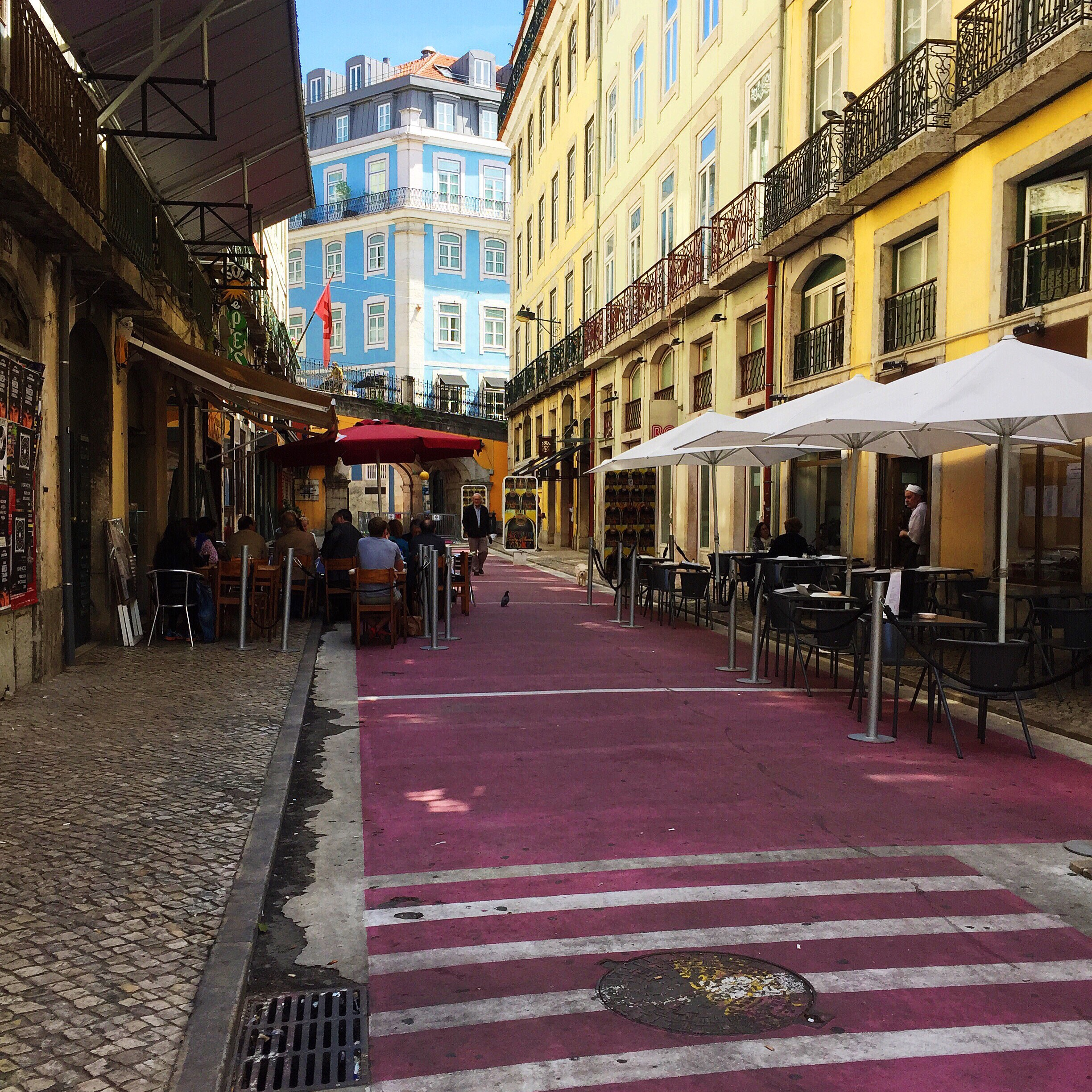 "Rua Nova Do Carvalho. Locals smiled when I tried to ask ""Where is 'The Pink Street'"" in Portuguese. Locals smiled pretty much all of the time, really."