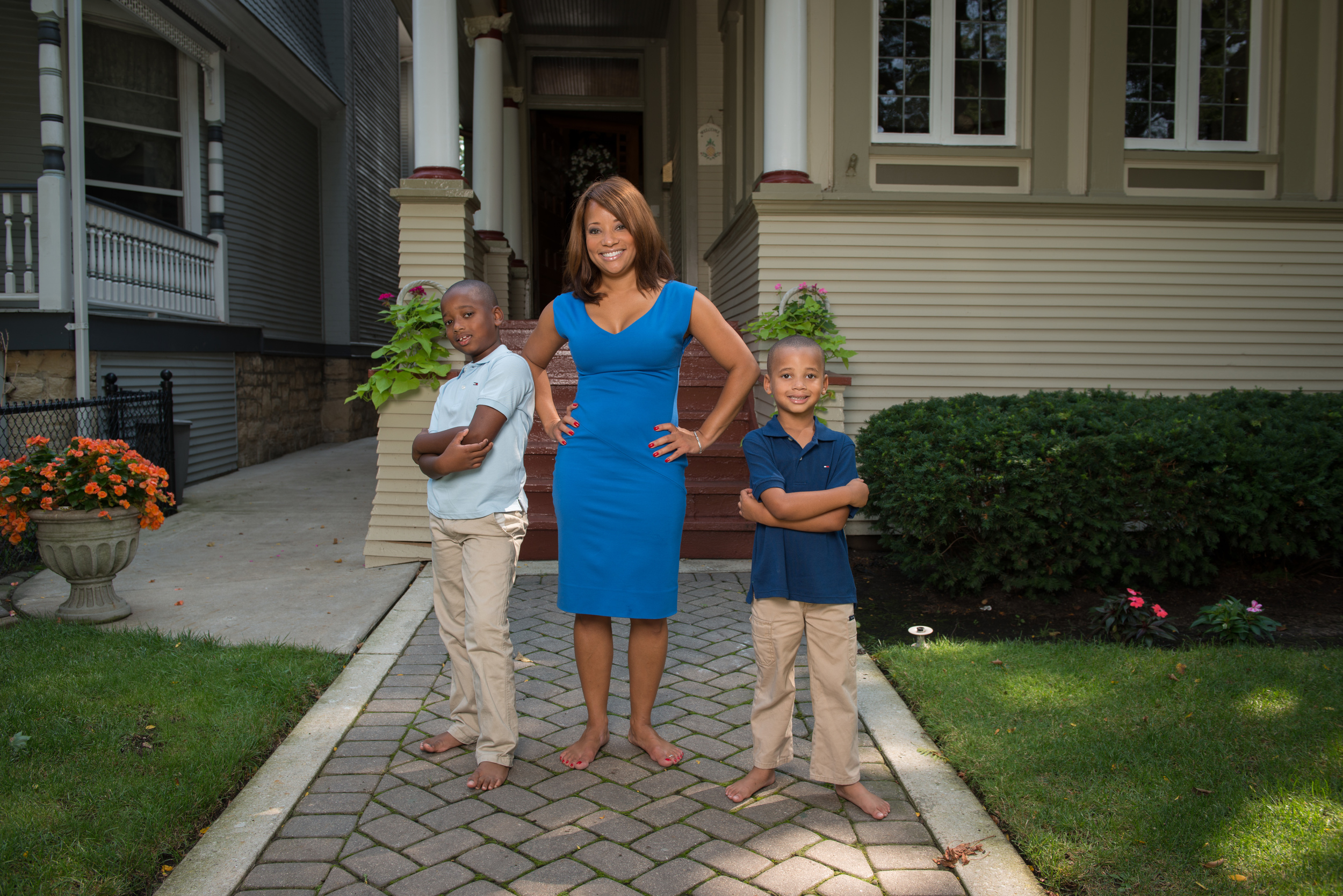 FOX 32 News anchor Dawn Hasbrook and sons