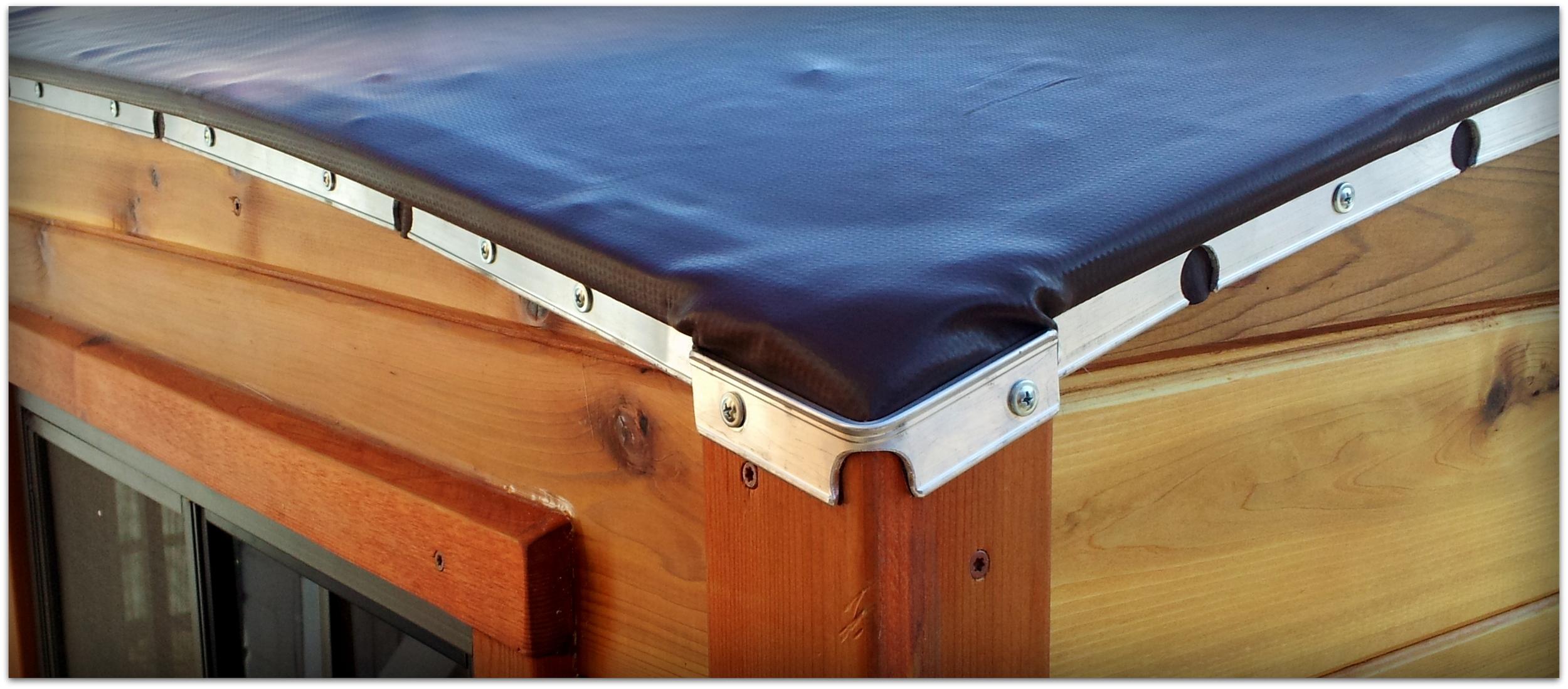 Solid PVC with custom termination bar