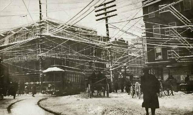 Wires over New York, 1887, via Retronaut, retrieved from <http://tinyurl.com/kb9dns2>