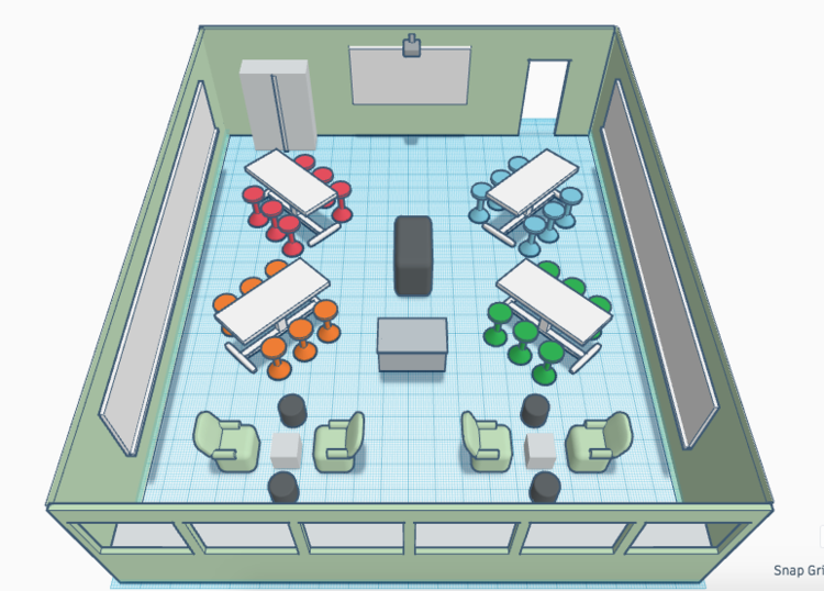 CEP 800: Classroom Redesign 3D Model