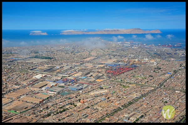 Aerial shot of Lima.