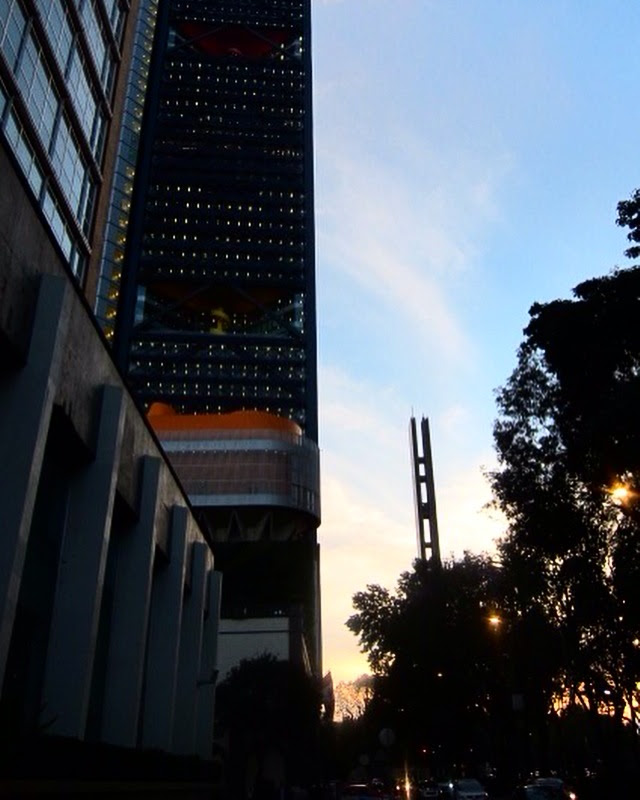 Paseo de la Reforma. I like to walk it when the sun was going down. I don't know why.