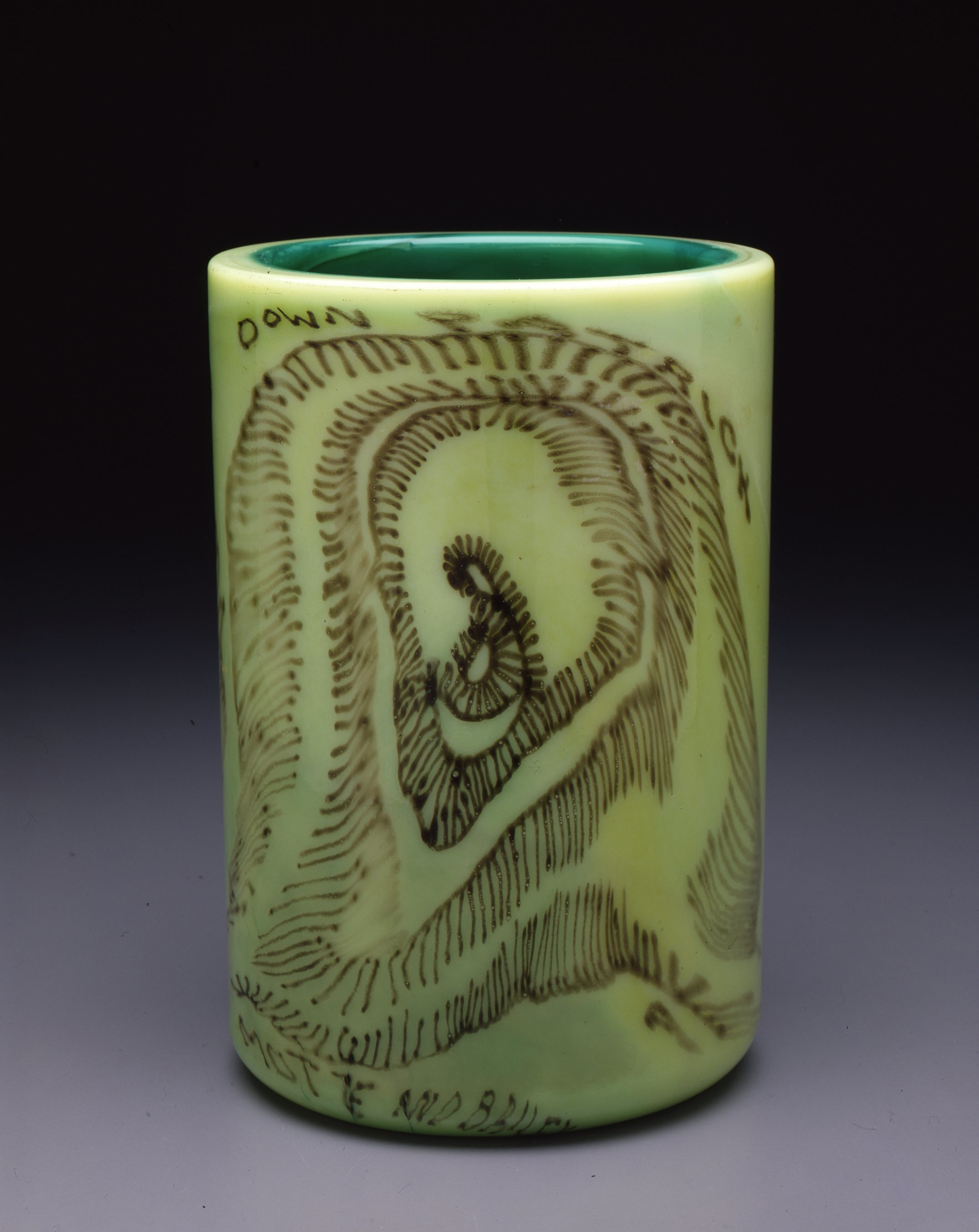 Dale Chihuly,  Irish Cylinder #5   (1975, glass, 11 1/2 x 7 1/2 inches), DC.267
