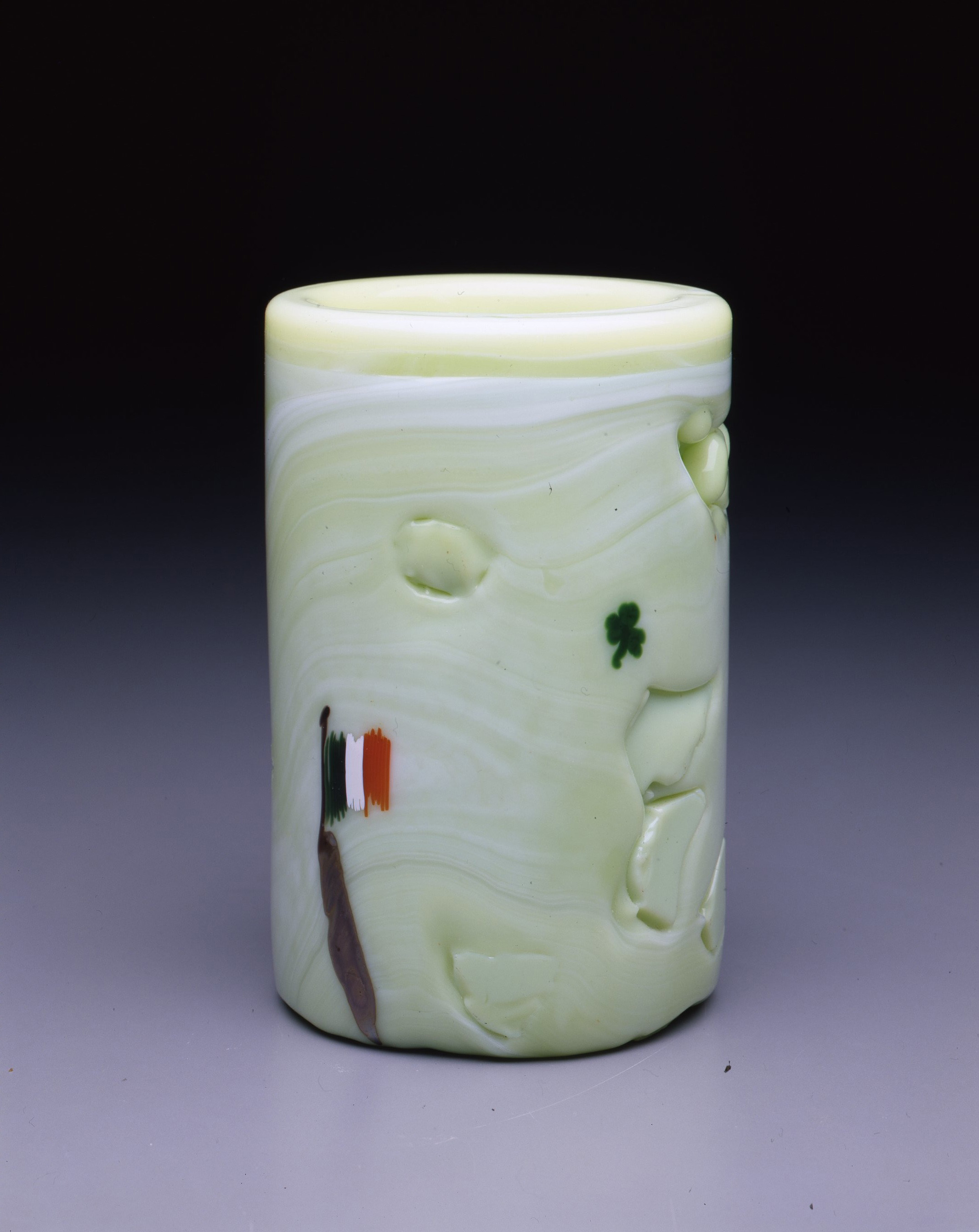 Dale Chihuly,  Irish Cylinder #6   (1975, glass, 6 1/2 x 4 inches), DC.268