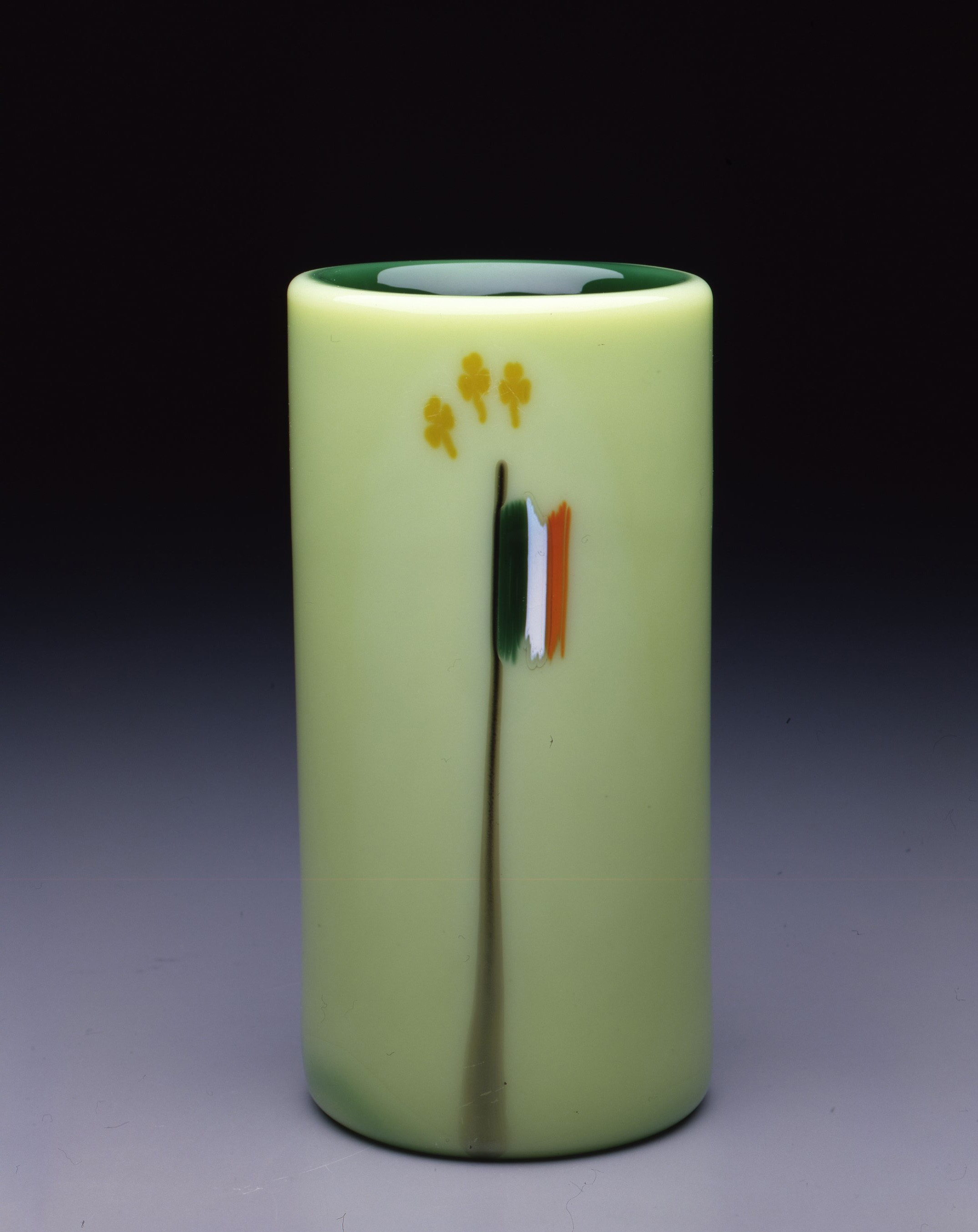 Dale Chihuly,  Irish Cylinder #7   (1975, glass, 8 1/2 x 4 inches), DC.269