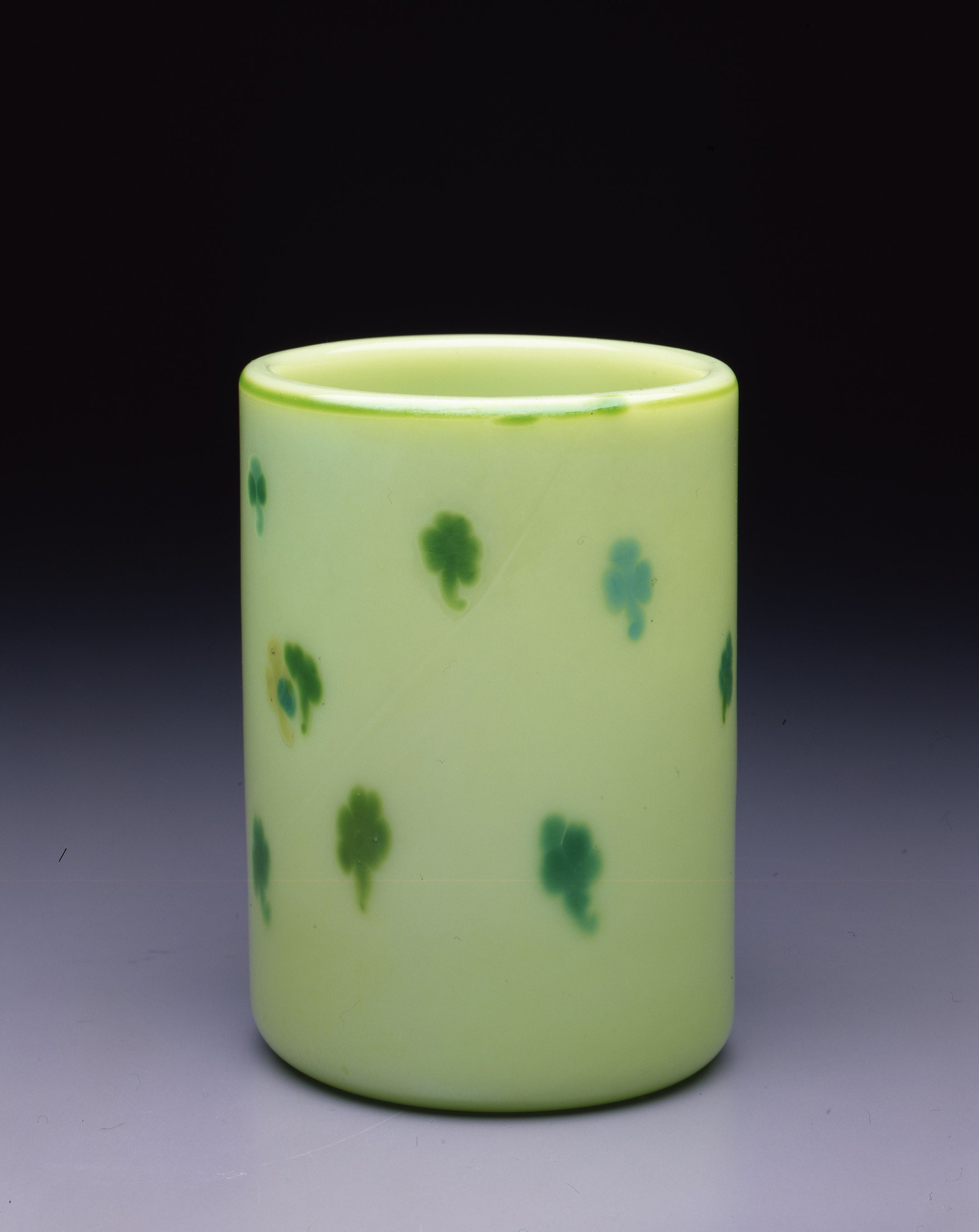 Dale Chihuly,  Irish Cylinder #8   (1975, glass, 7 1/2 x 5 inches), DC.270
