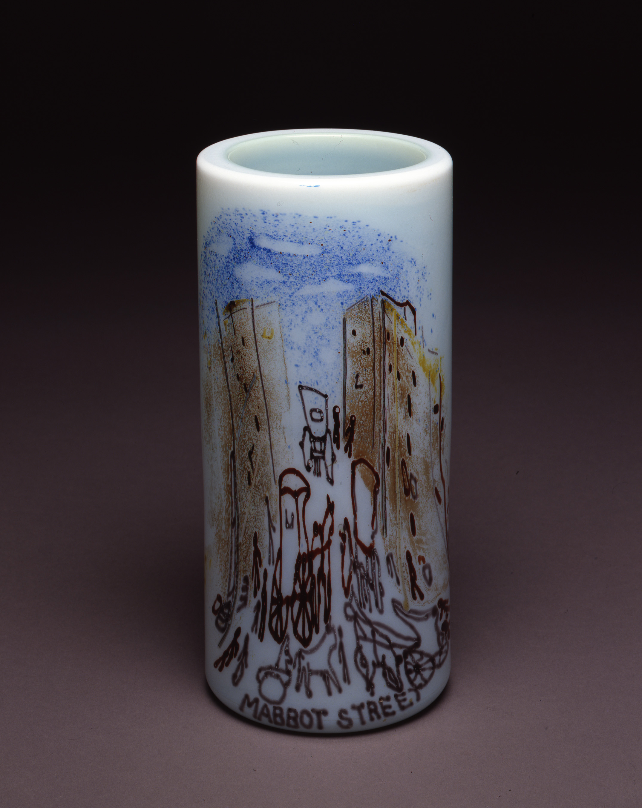 Dale Chihuly,  Irish Cylinder #12   (1975, glass, 12 1/2 x 5 1/2 inches), DC.274