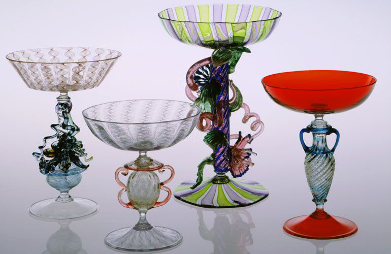 Lino Tagliapietra, Goblets (1991-1994, glass, variable dimensions), LT.1-91