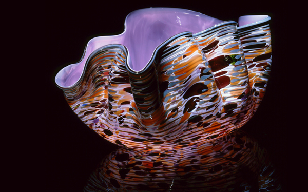 """Dale Chihuly, Wisteria Violet Macchia With Plumbago Lip Wrap (1982, glass, 6 x 12 x 8 inches), DC.56                        Normal    0                false    false    false       EN-US    JA    X-NONE                                                                                                                                                                                                                                                                                                                                                                                                                                                                                                                           /* Style Definitions */ table.MsoNormalTable {mso-style-name:""""Table Normal""""; mso-tstyle-rowband-size:0; mso-tstyle-colband-size:0; mso-style-noshow:yes; mso-style-priority:99; mso-style-parent:""""""""; mso-padding-alt:0in 5.4pt 0in 5.4pt; mso-para-margin:0in; mso-para-margin-bottom:.0001pt; mso-pagination:widow-orphan; font-size:10.0pt; font-family:""""Times New Roman""""; mso-fareast-language:JA;}"""