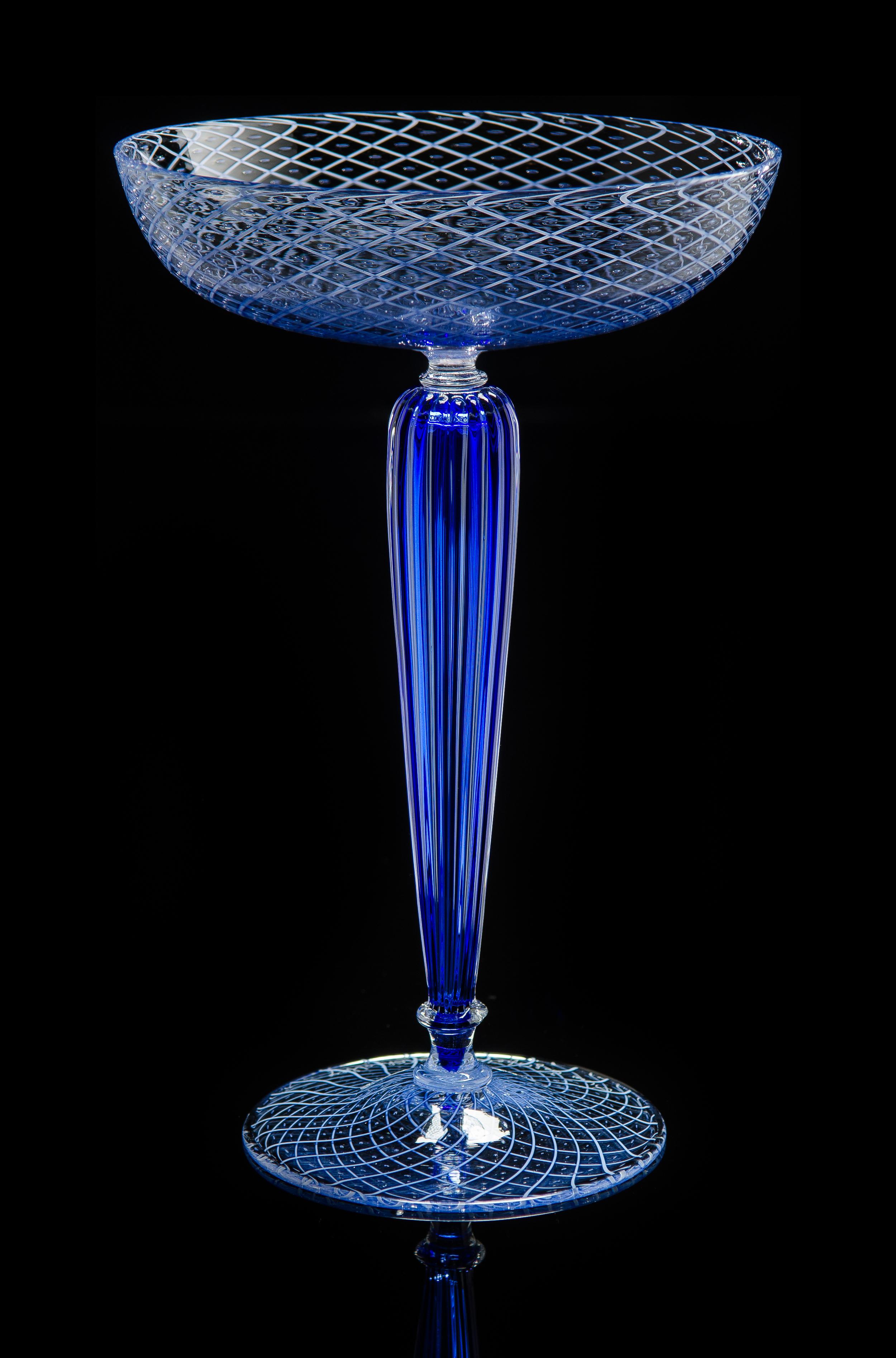 Lino Tagliapietra, Goblet (1991-1994, glass, 8 1/8 x 5 1/4 x 5 1/4 inches), LT.2
