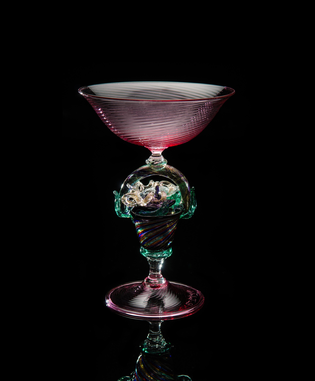 Lino Tagliapietra, Goblet (1991-1994, glass, 6 9/16 x 4 13/16 x 4 13/16 inches), LT.13