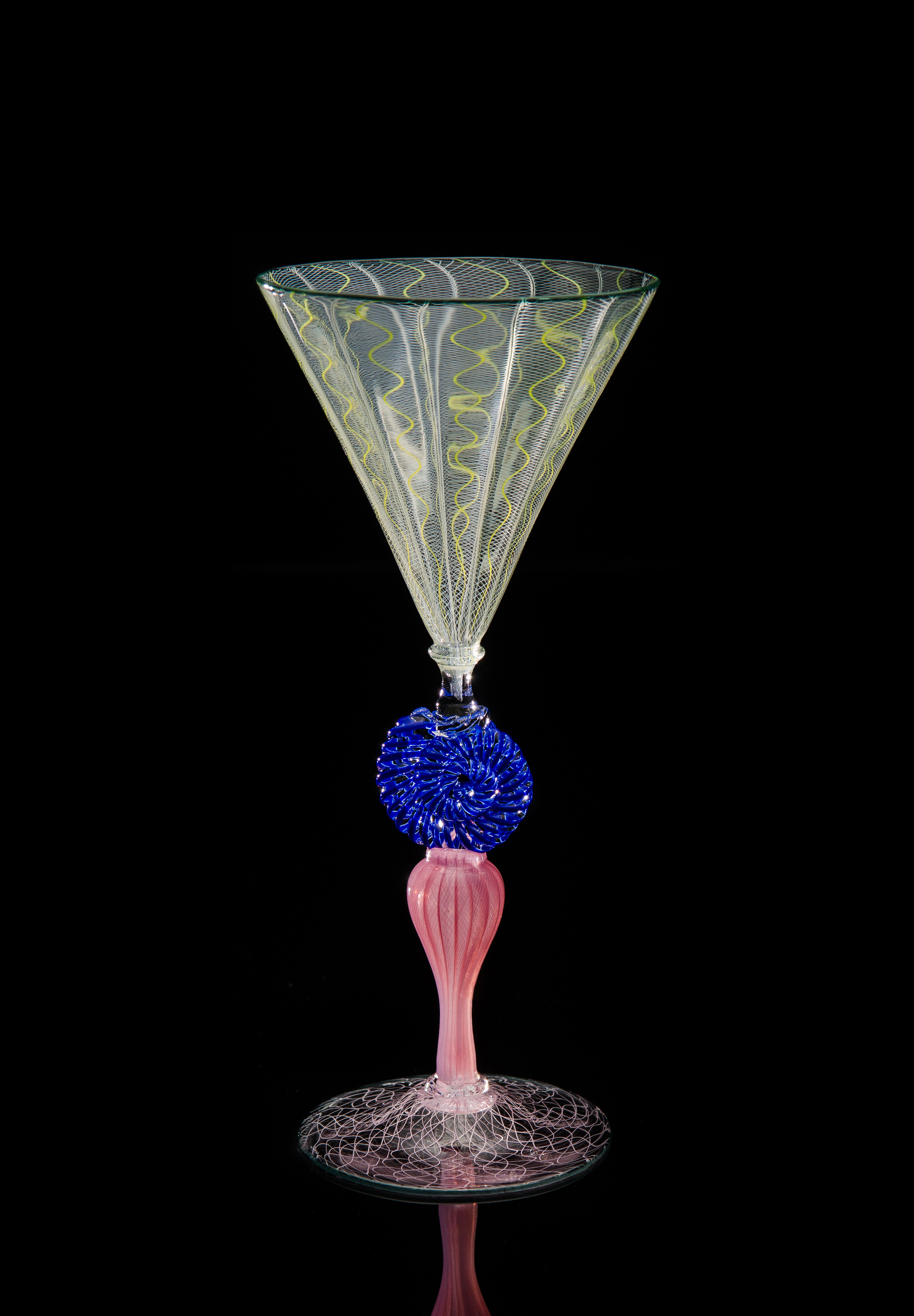 Lino Tagliapietra, Goblet (1991-1994, glass, 9 1/4 x 4 3/16 x 4 3/16 inches), LT.17