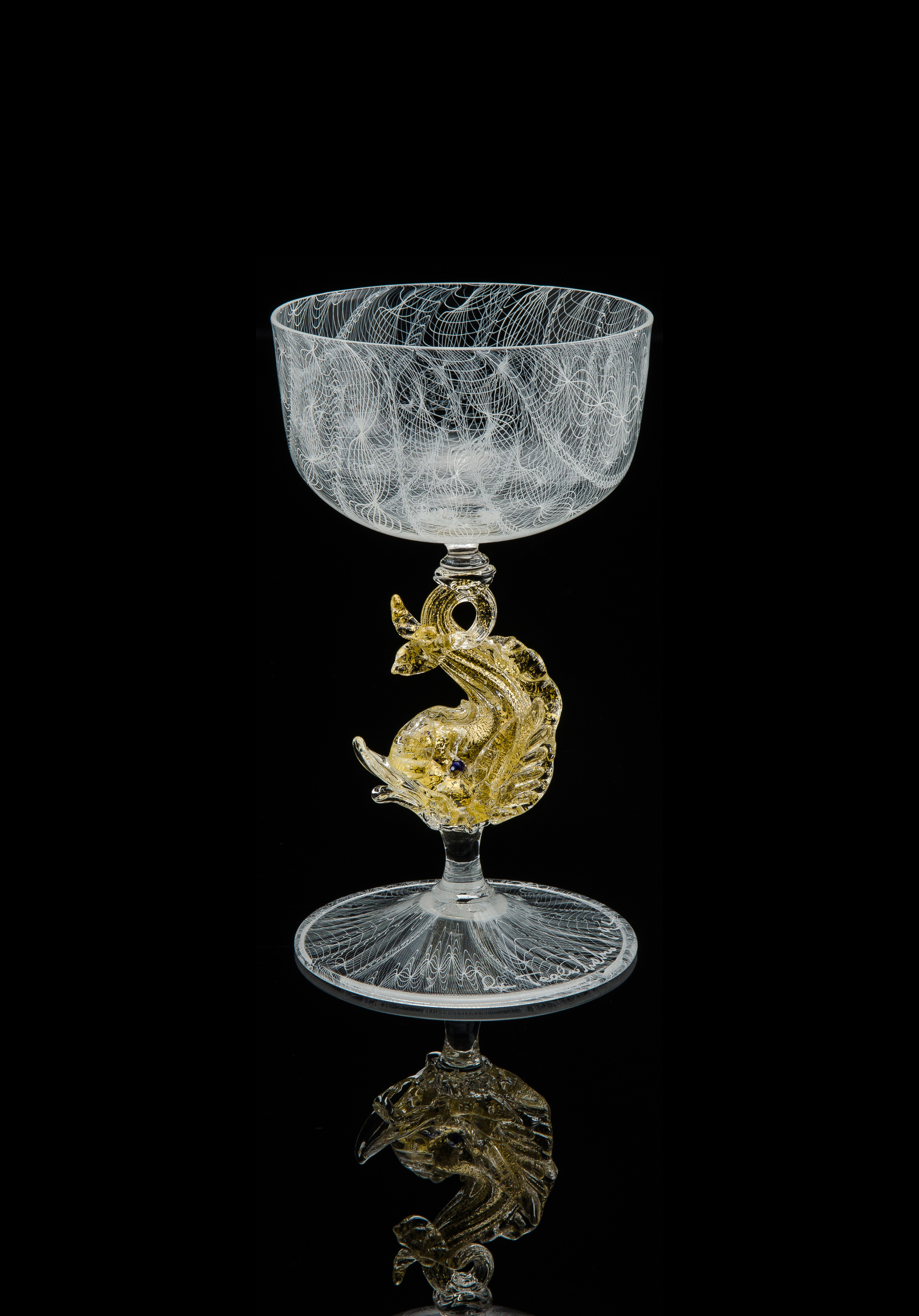 Lino Tagliapietra, Goblet (1991-1994, glass, 6 1/2 x 3 7/8 x 3 7/8 inches), LT.84