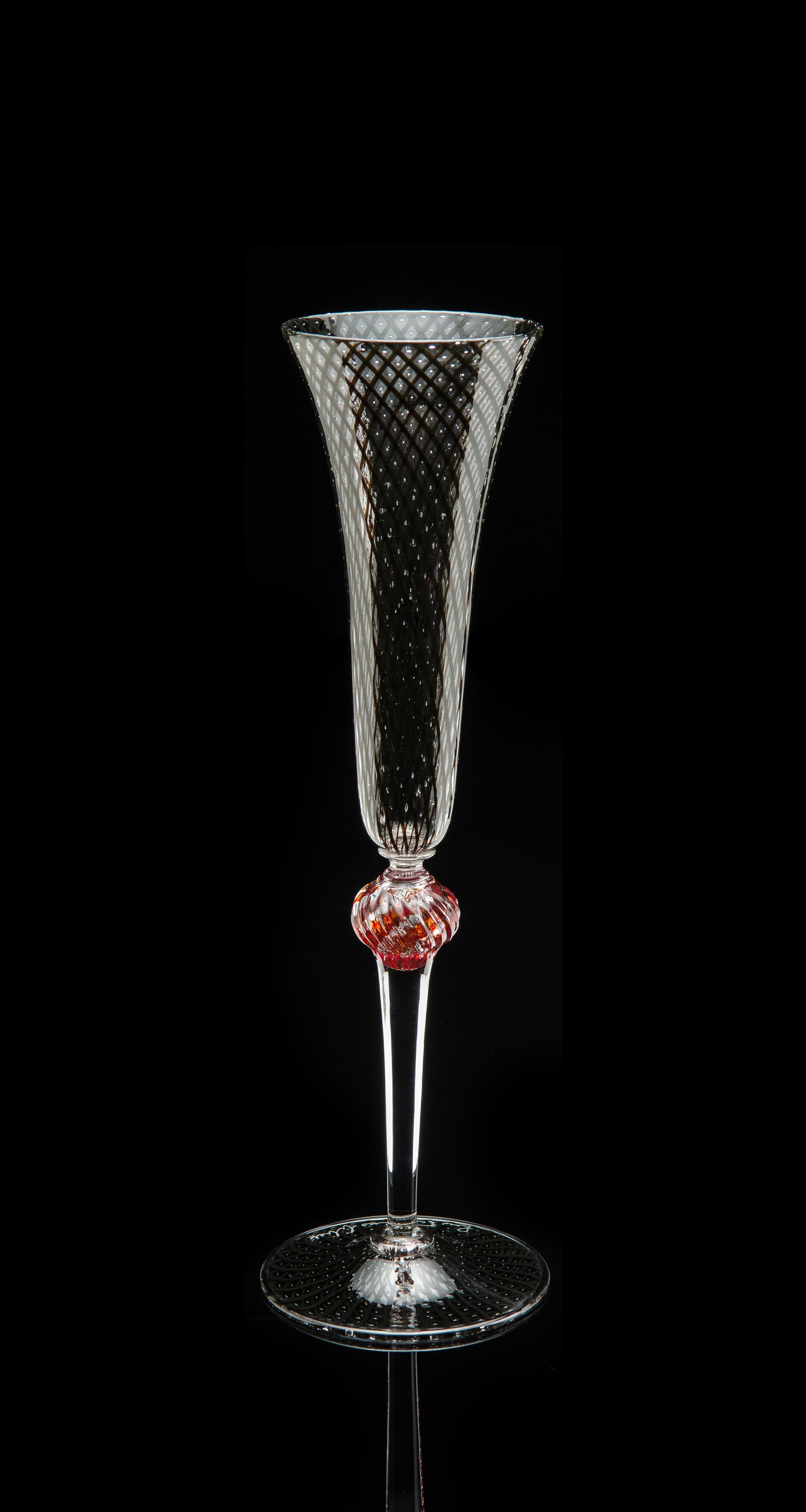 Lino Tagliapietra, Goblet (1991-1994, glass, 10 1/2 x 3 1/4 x 3 1/4 inches), LT.82