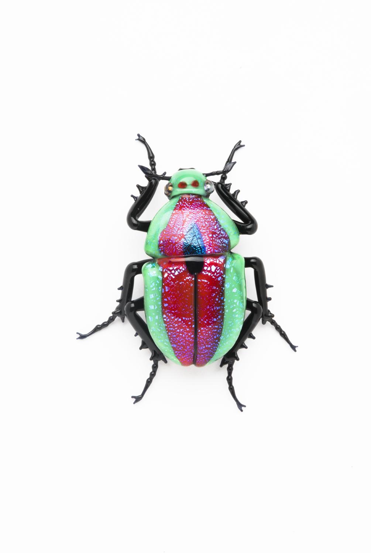 "Vittorio Costantini, Family: Scarabaeidae, ""Pelidnota Aureocuprea"" (2005, soda-lime glass, 1 5/8 x 2 1/16 x 5/8 inches), VC.5"