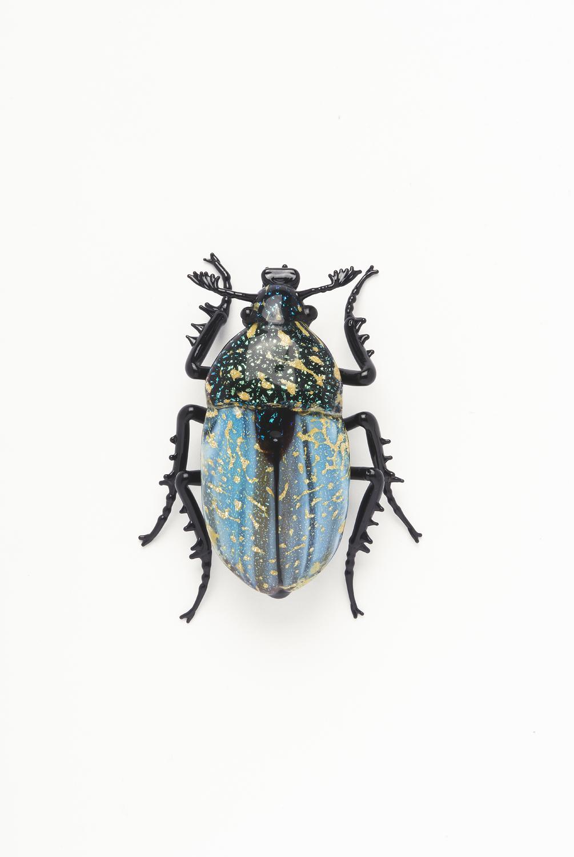"Vittorio Costantini, Family: Chrysomelidae, ""Chrysochus Auratus"" (2005, soda-lime glass, 1 3/4 x 1 7/16 x 5/8 inches), VC.2"